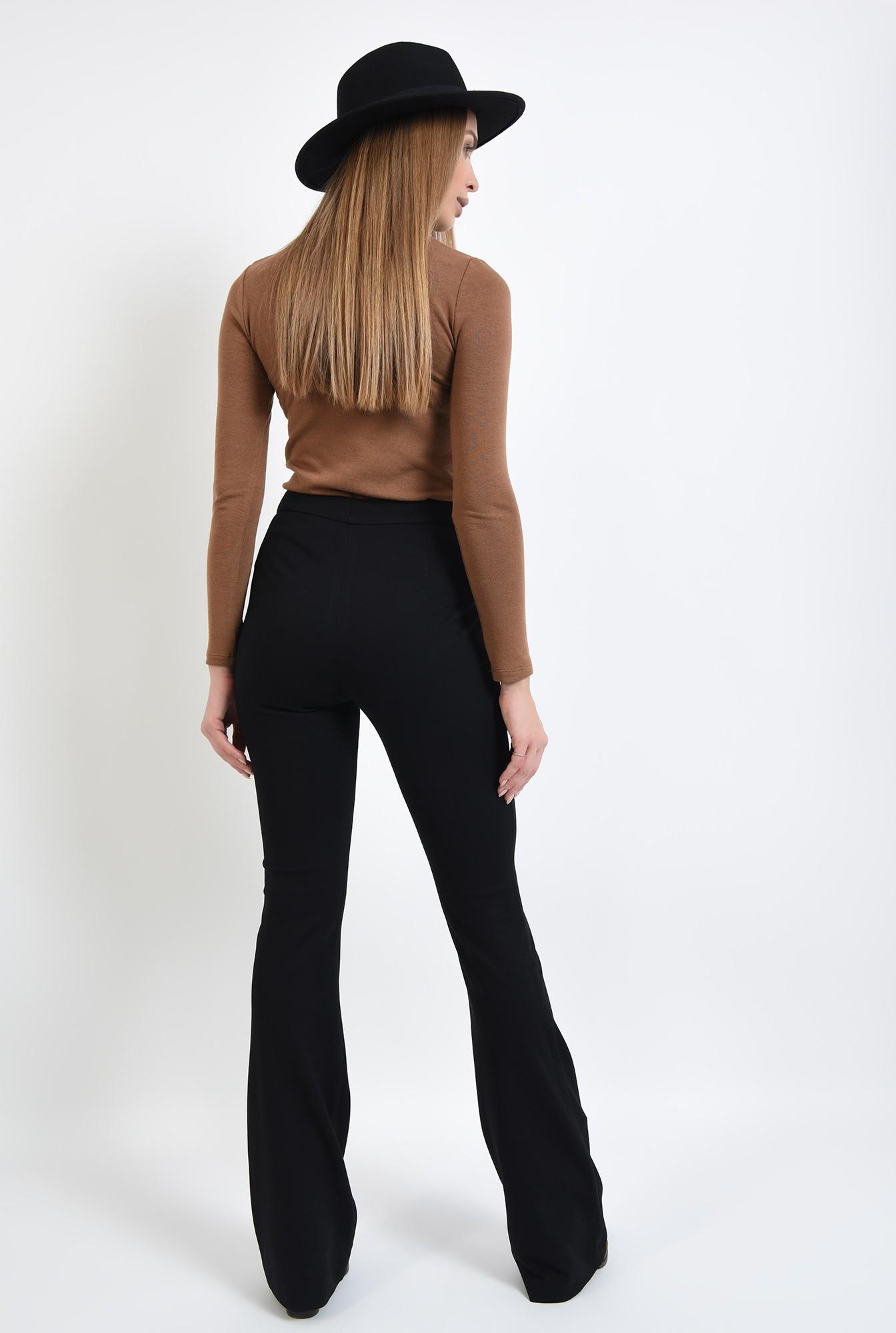 1 - pantaloni negri, cu talie medie, cu buzunare