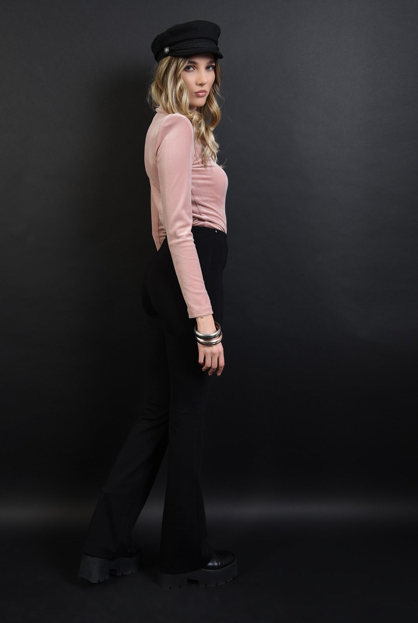 2 - pantaloni stretch, negri, casual, cu talie medie