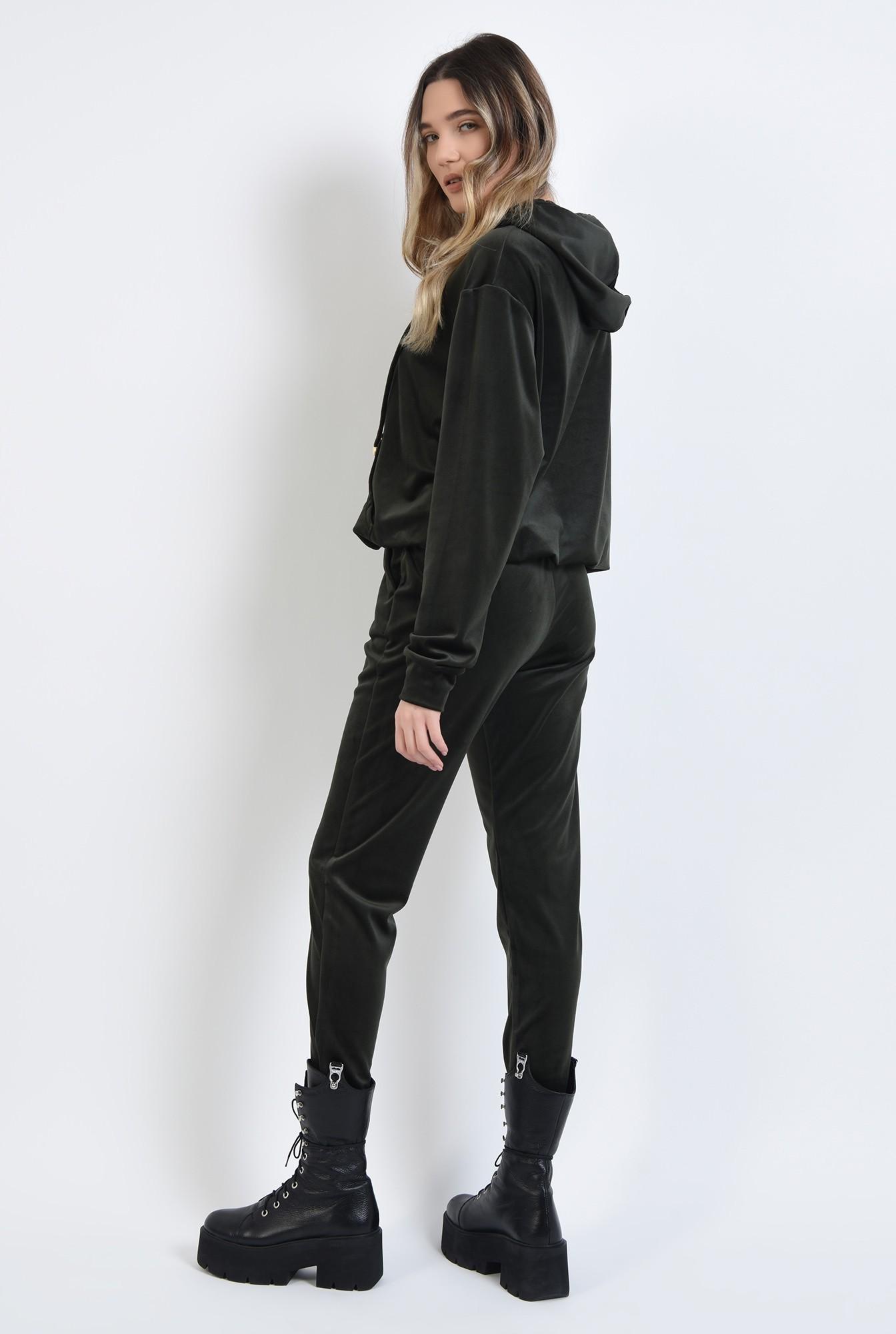 2 - pantaloni casual, din catifea kaki, Poema