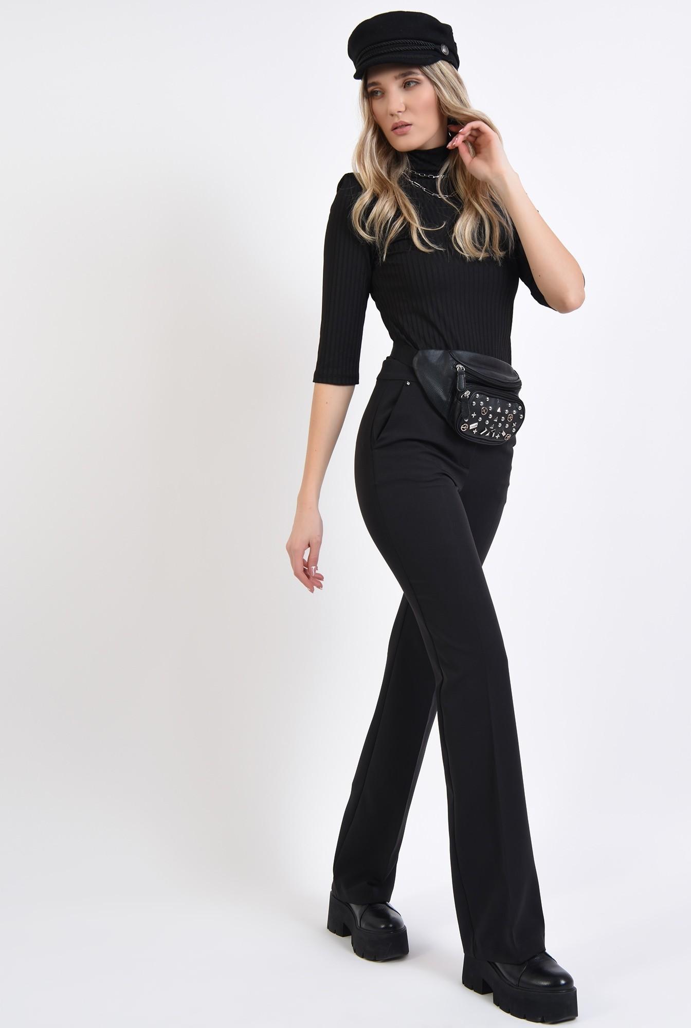 0 - pantaloni cu talie medie, cu buzunare laterale