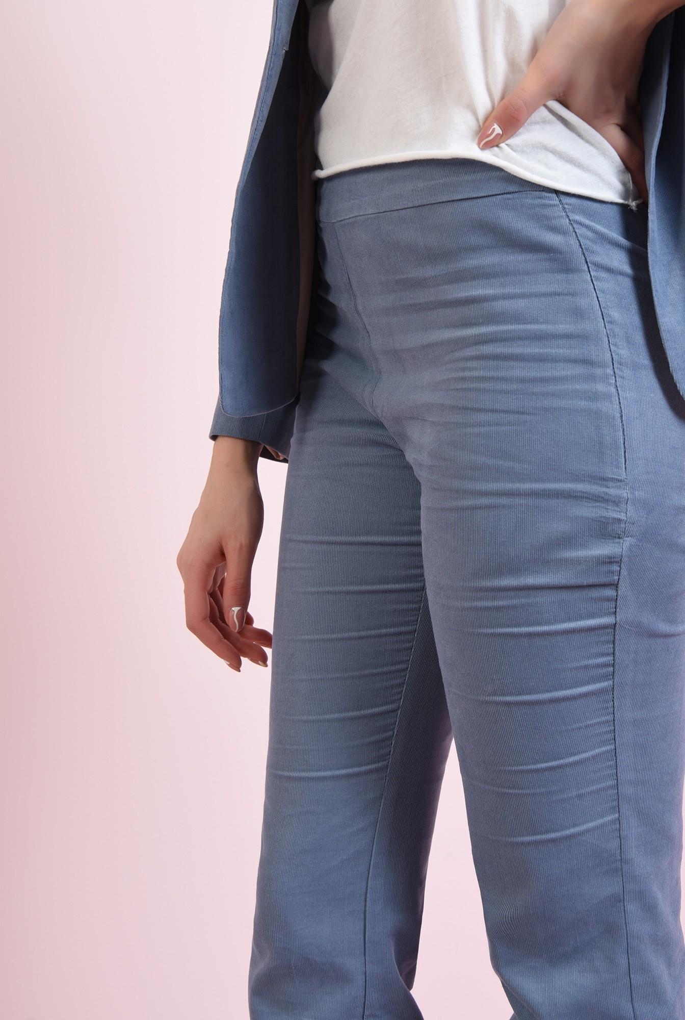 2 - pantaloni drepti, casual, cu fermoar lateral
