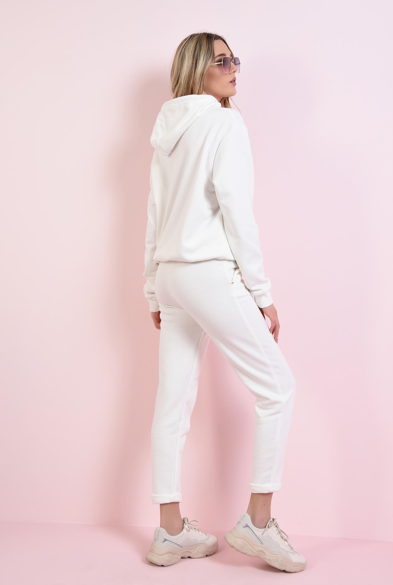 1 - pantaloni casual, albi, cu buzunare, Poema