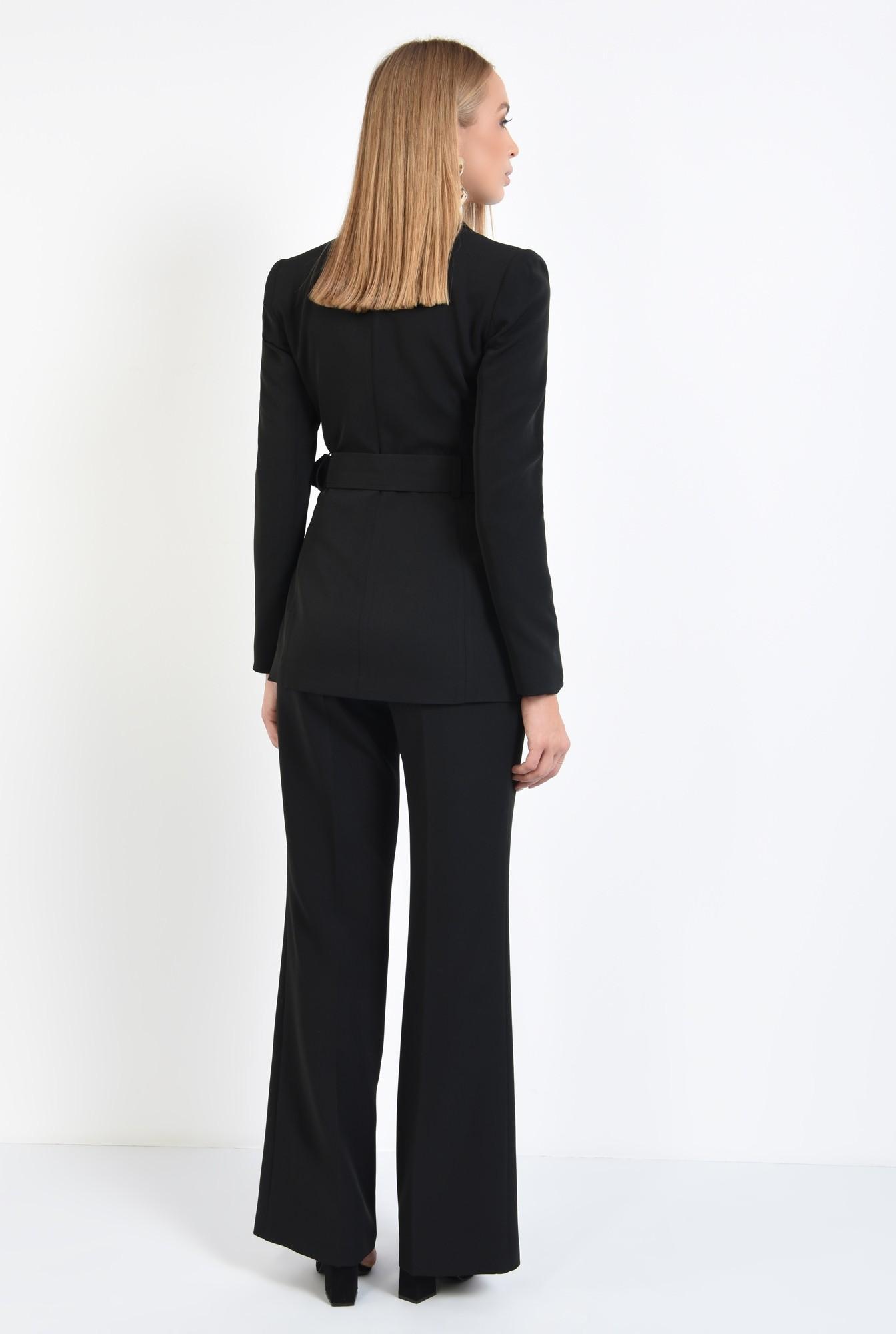 1 - pantaloni de zi, croi evazat, la dunga, fermoar lateral