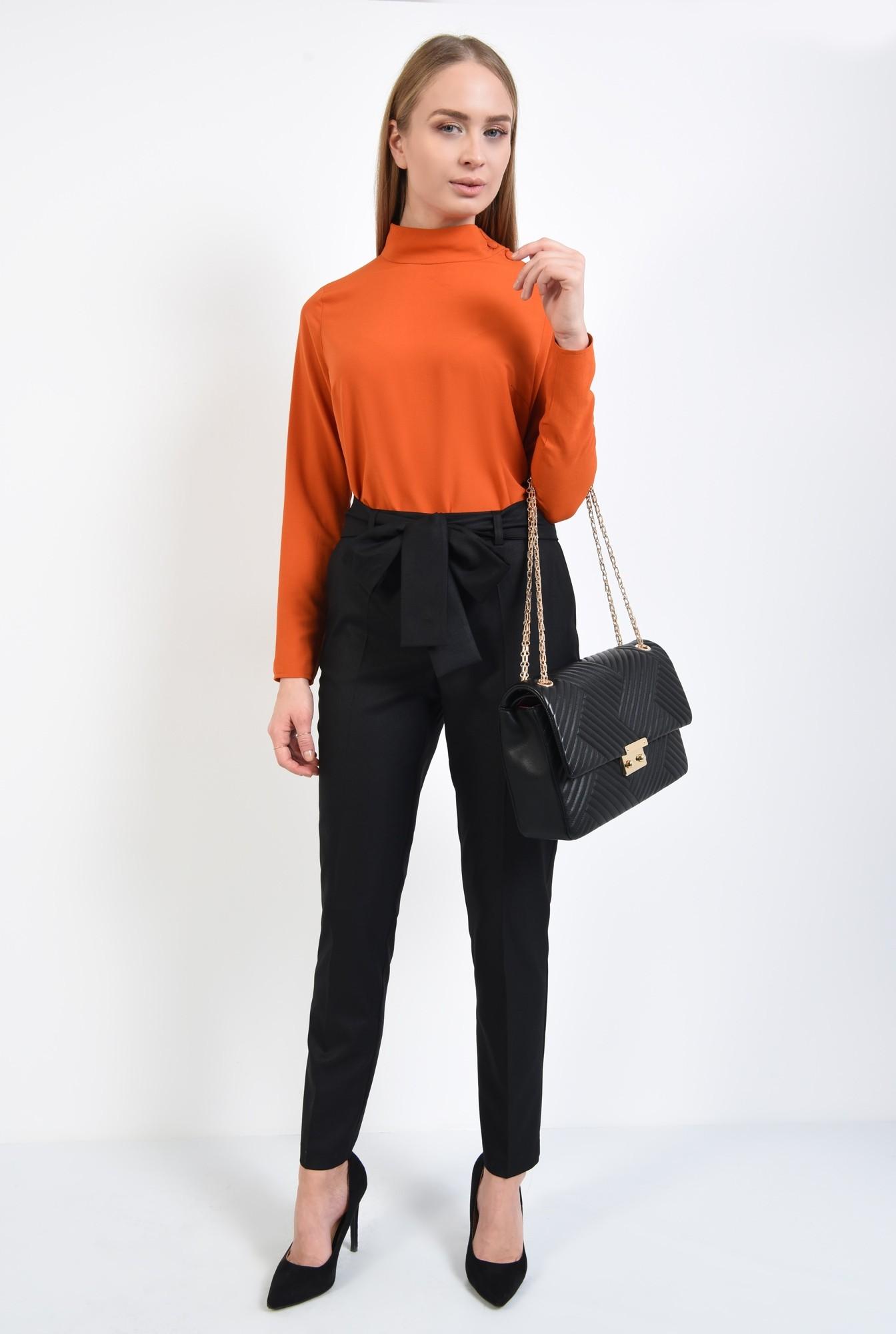 3 - pantaloni cu funda, talie medie, cordon, croi tigareta