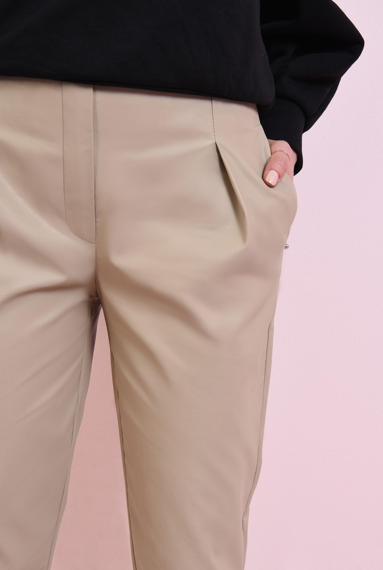 2 - pantaloni casual, cu talie medie, cu buzunare