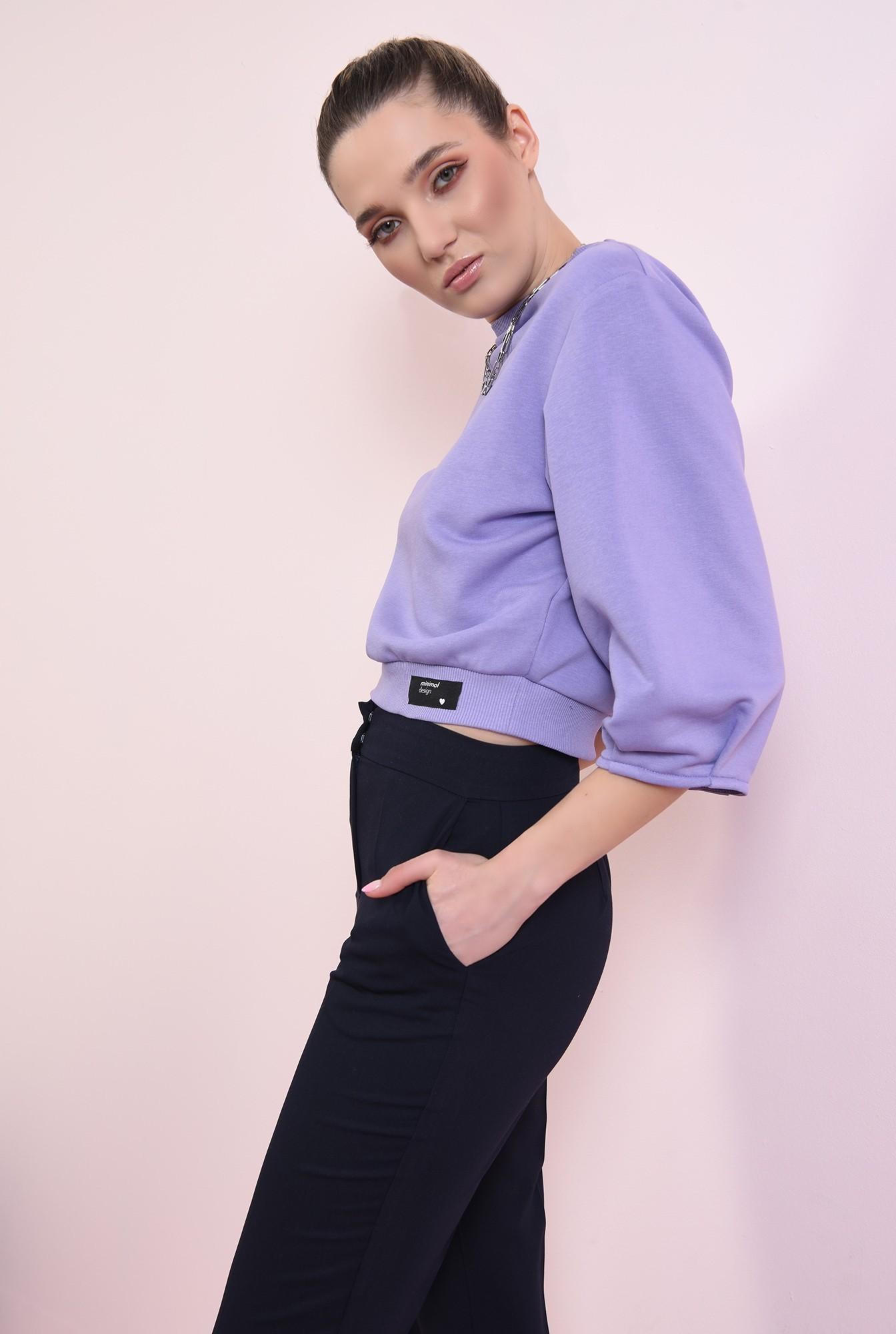 0 - pantaloni navy, casual, cu talie medie