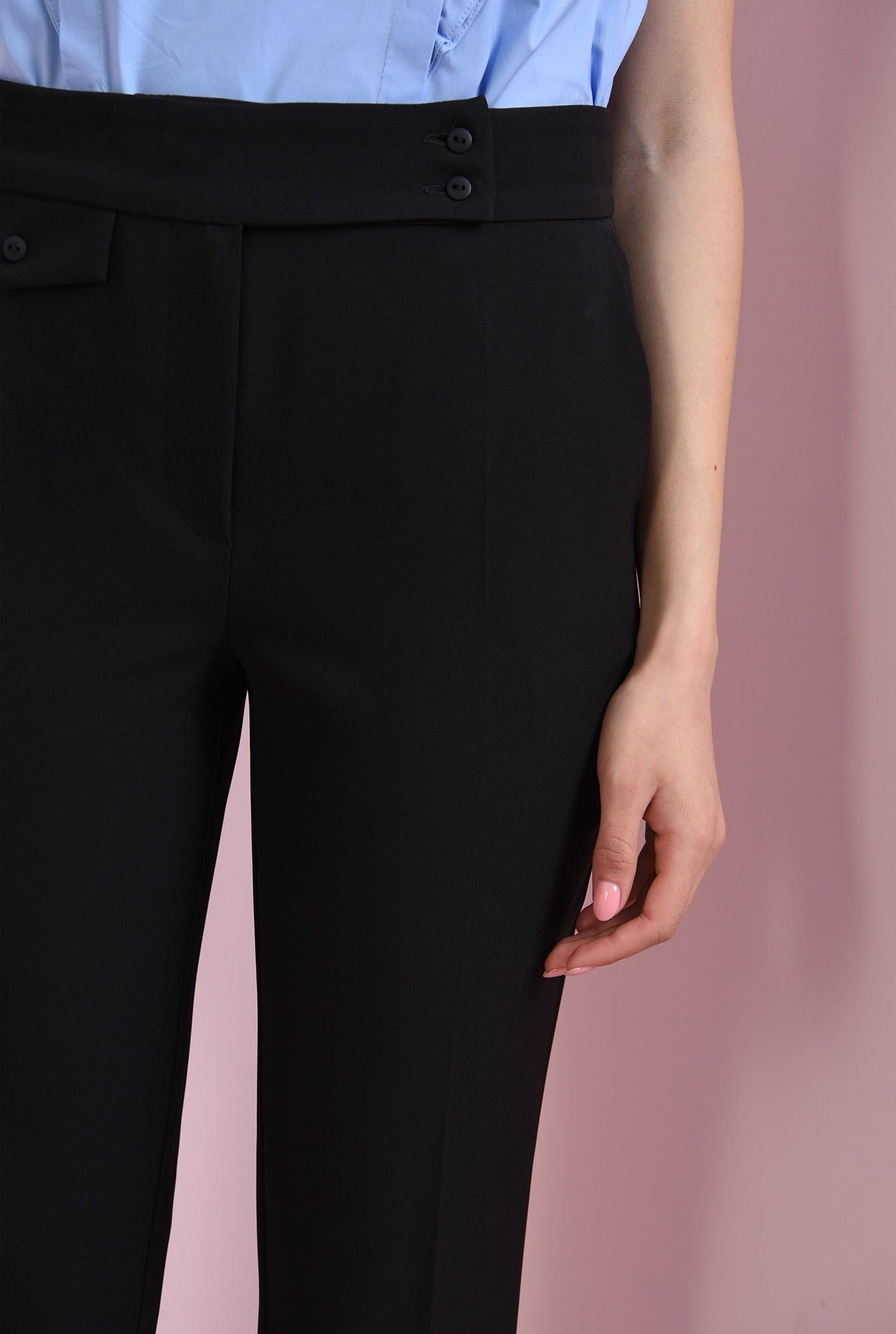 2 - pantaloni casual, negri, cu talie medie