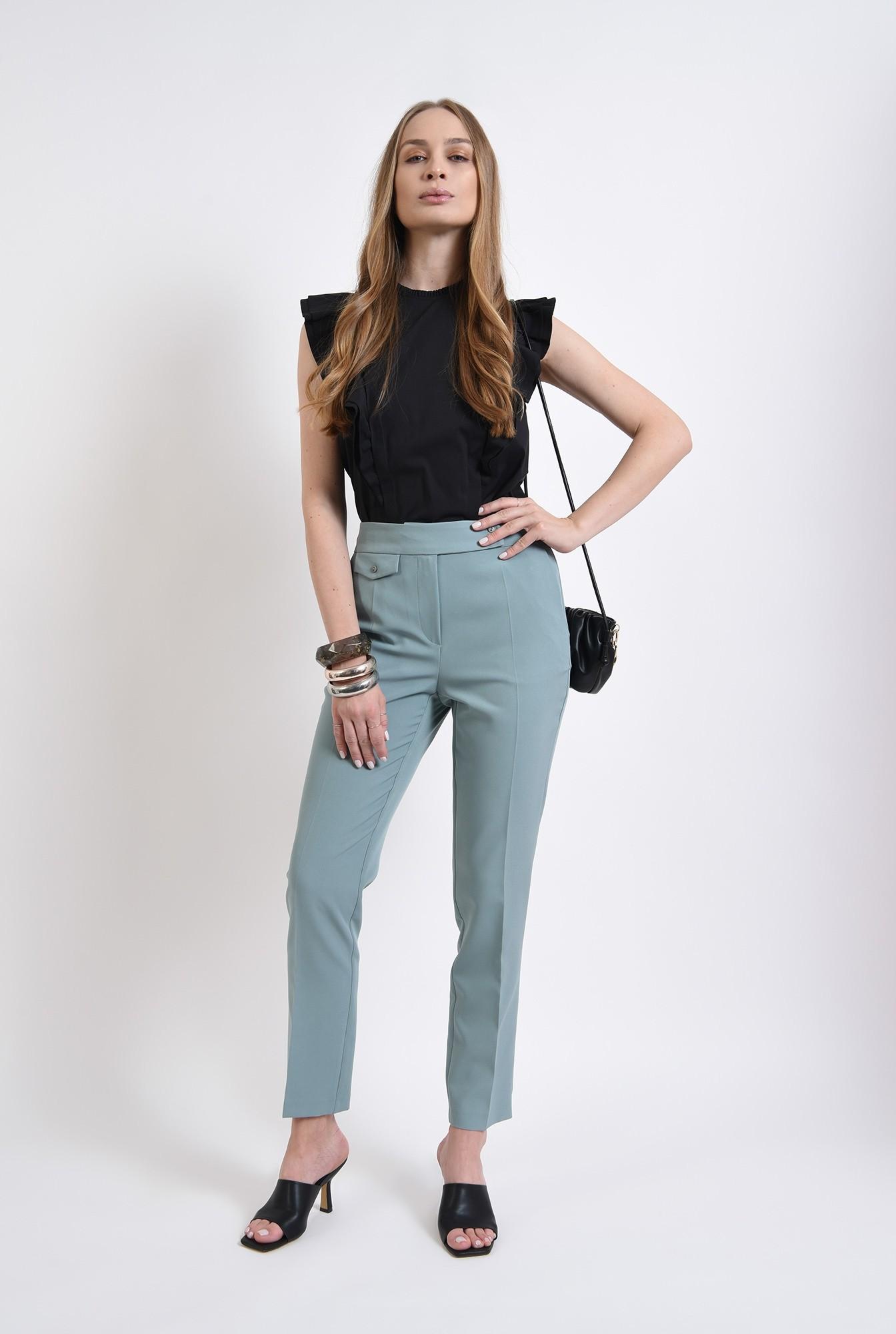1 - pantaloni mint, casual, Poema