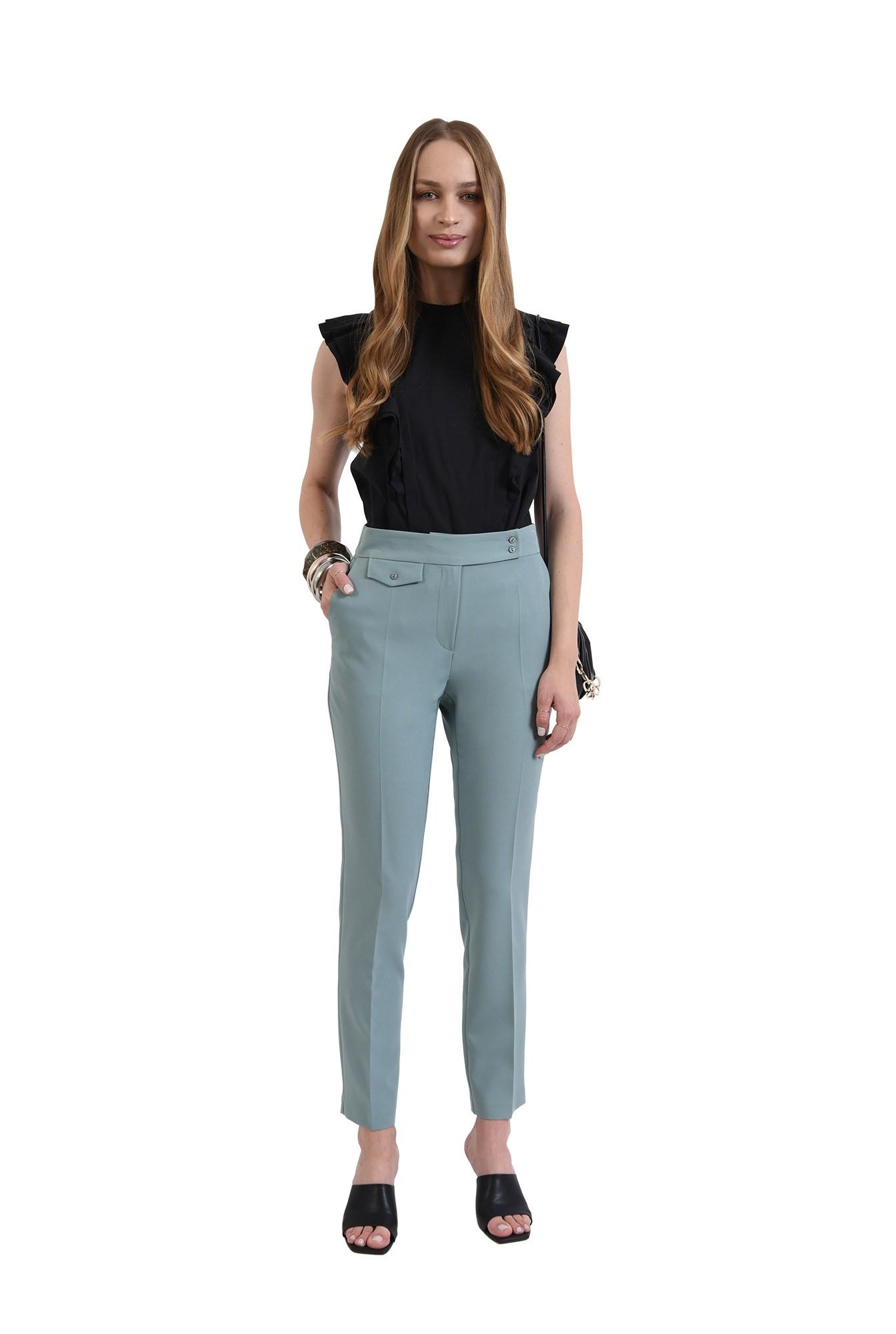 3 - pantaloni mint, casual, Poema