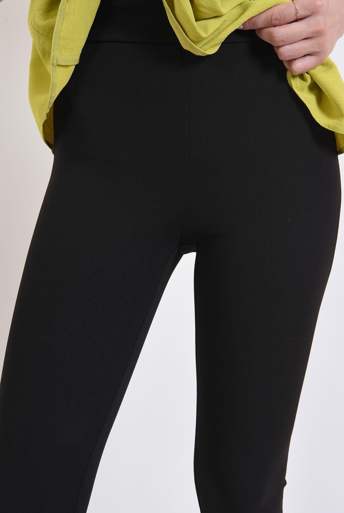 2 - pantaloni negri, cu talie medie, Poema