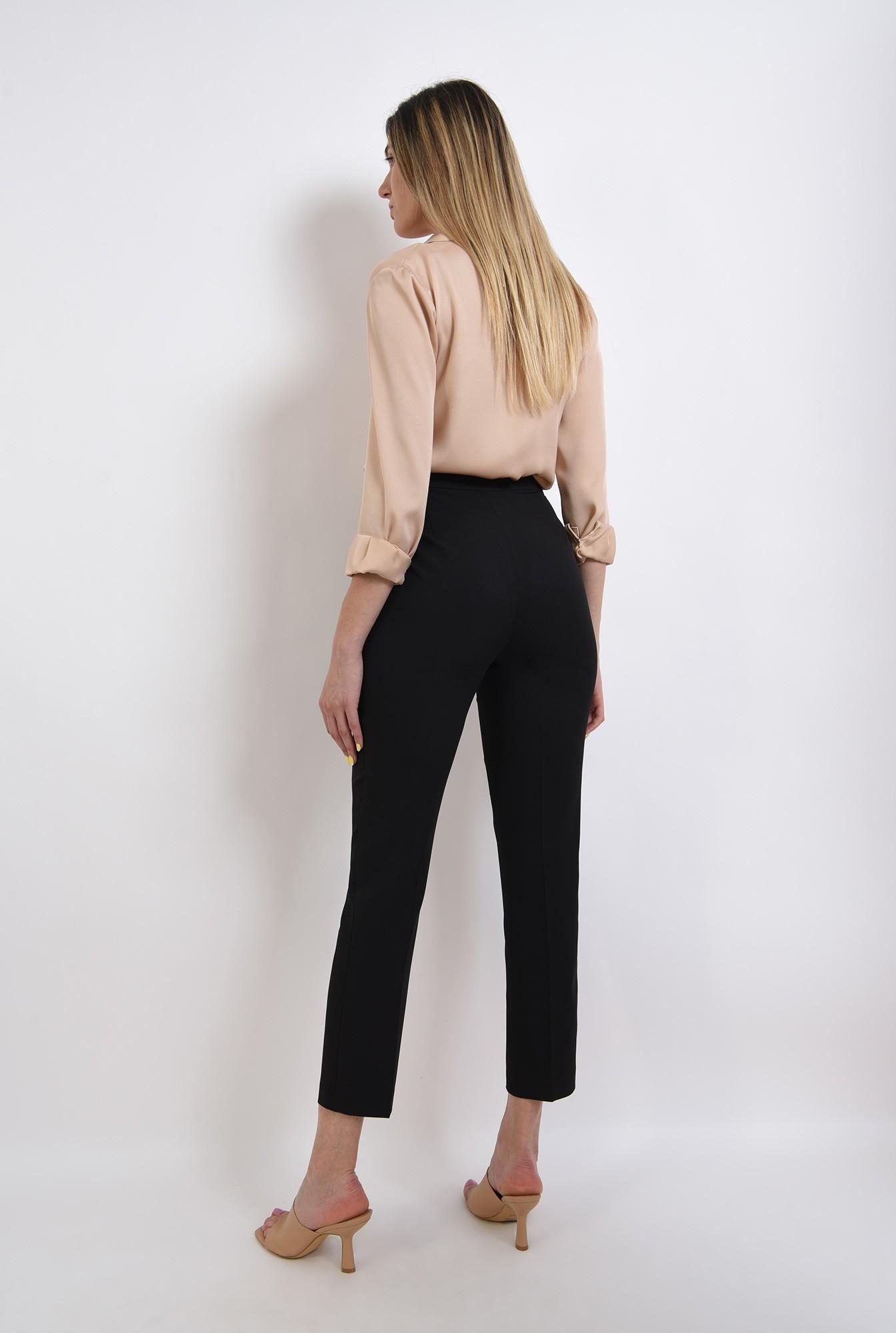2 - pantaloni tigareta, negri, conici, cu buzunare