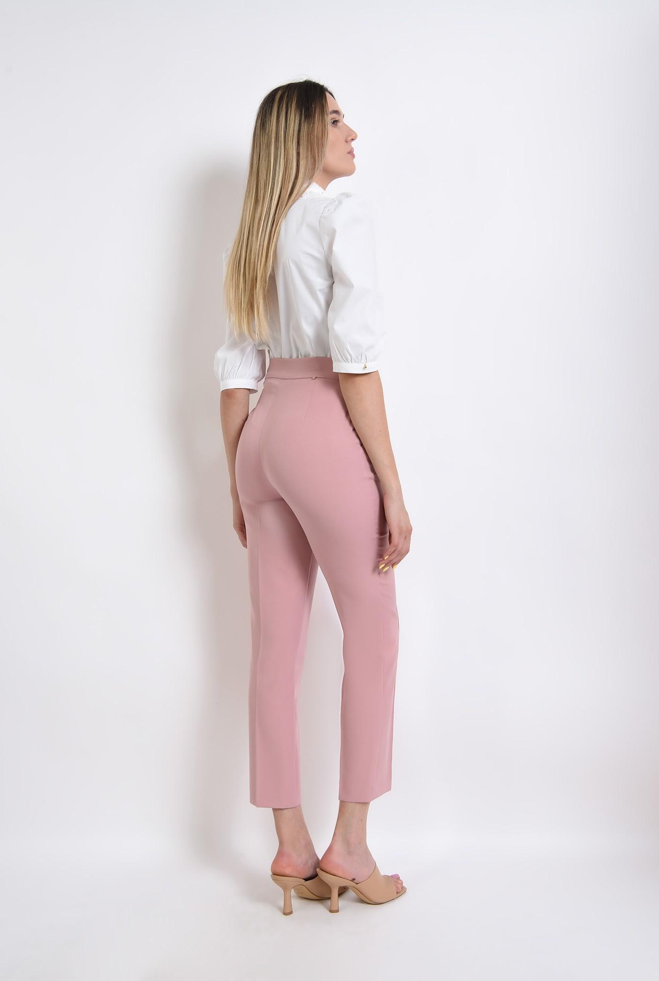 2 -  pantaloni roz, conici, office, casual, pantaloni pana
