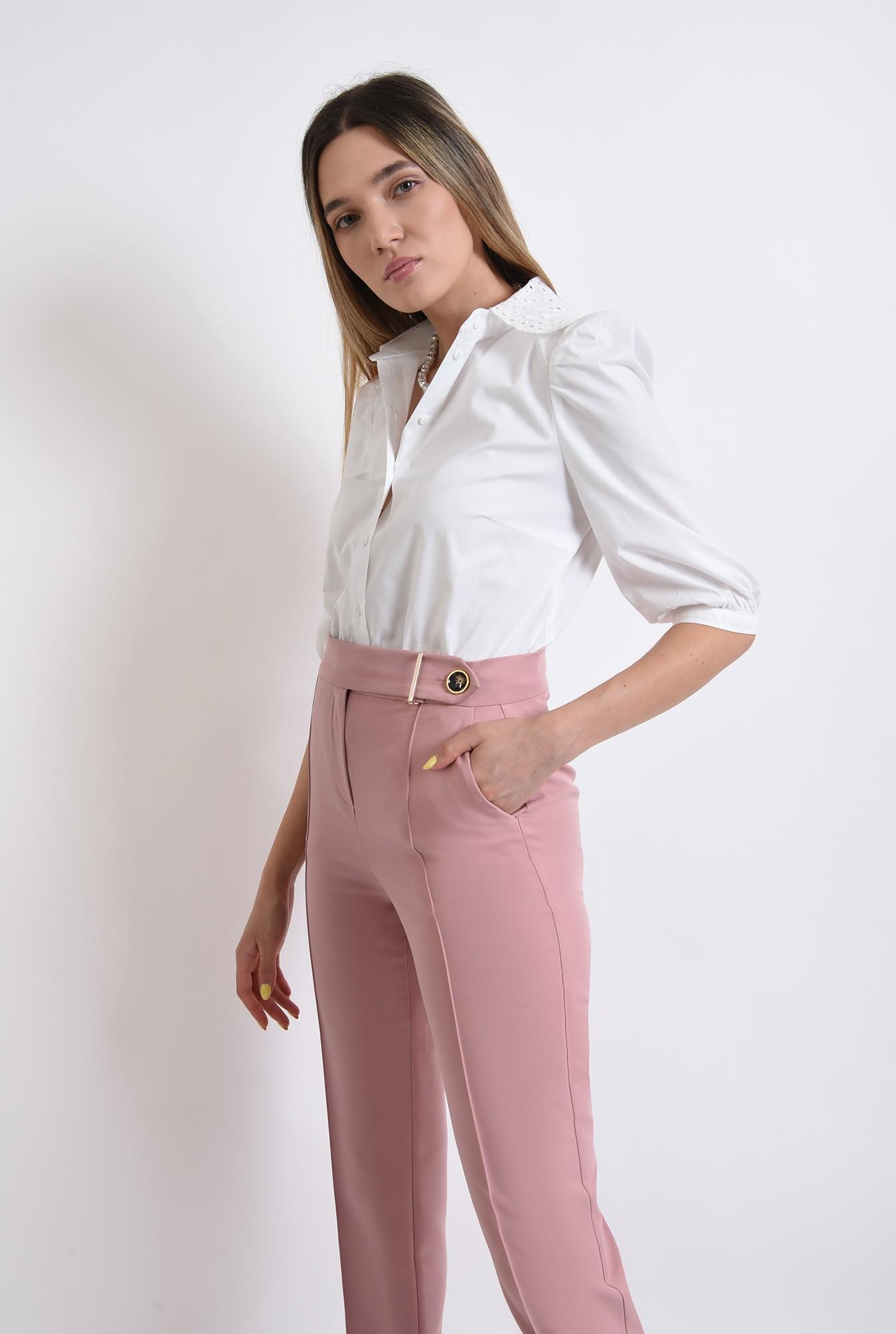 0 -  pantaloni roz, conici, office, casual, pantaloni pana