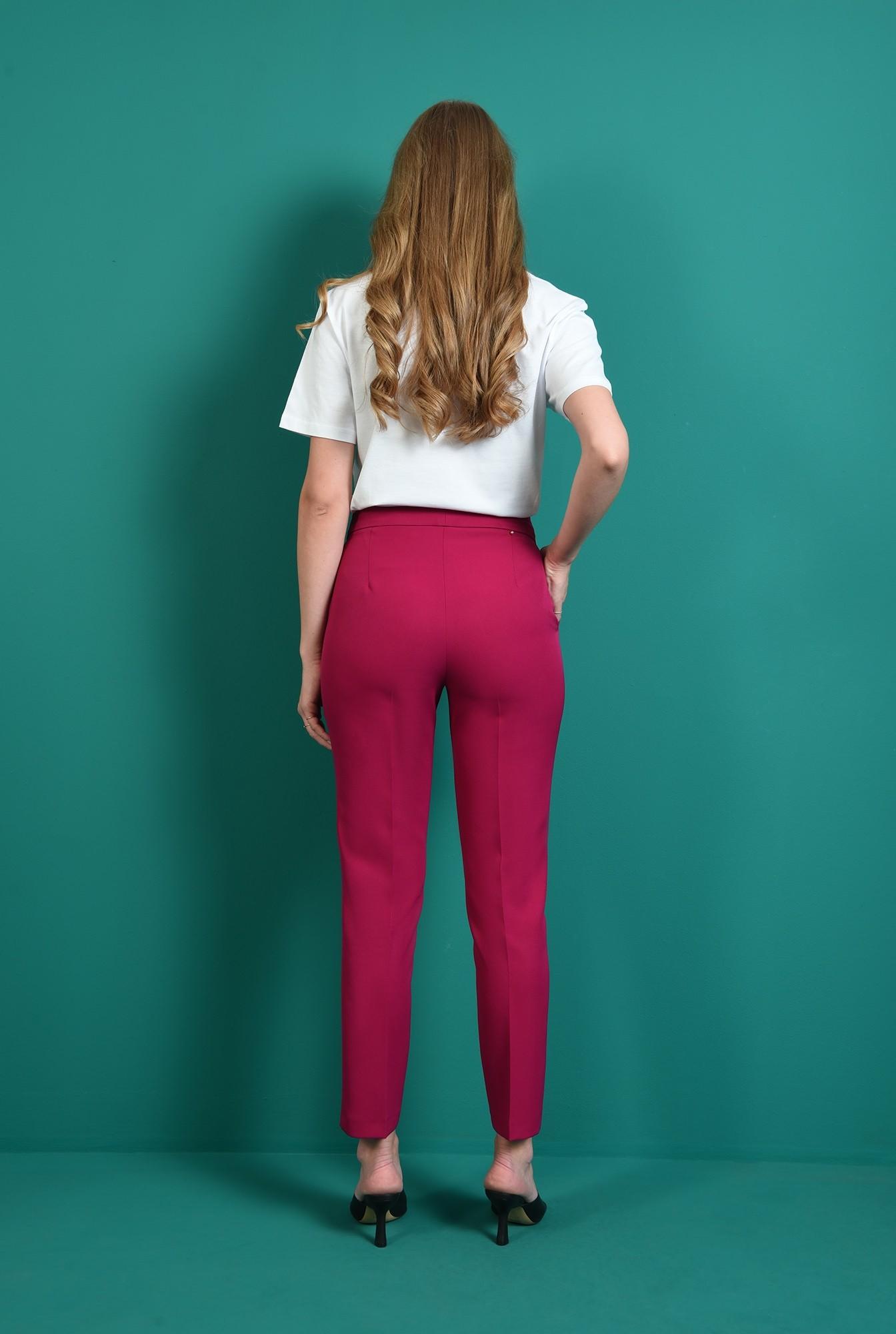 1 - pantaloni lungi, magenta, cu buzunar, Poema