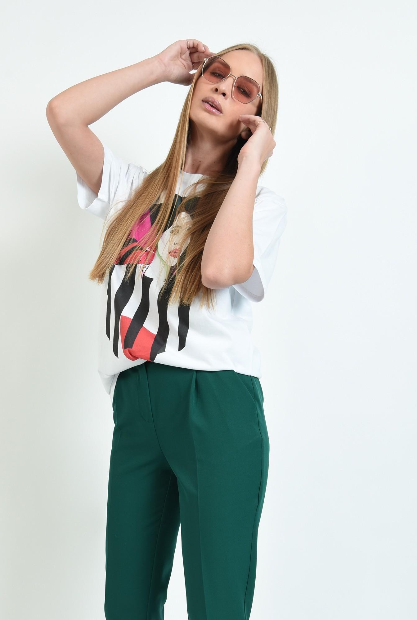 0 - pantaloni lungi, conici, cu buzunare laterale