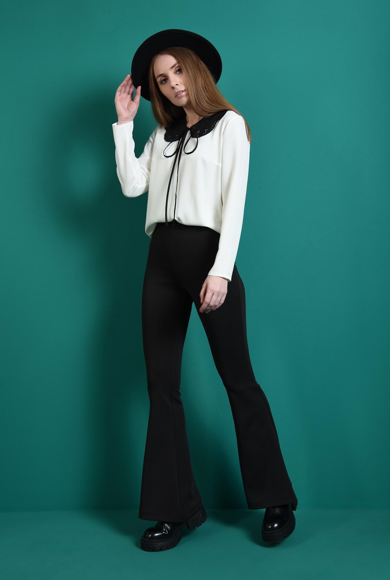 0 - pantaloni casual, negri, evazati