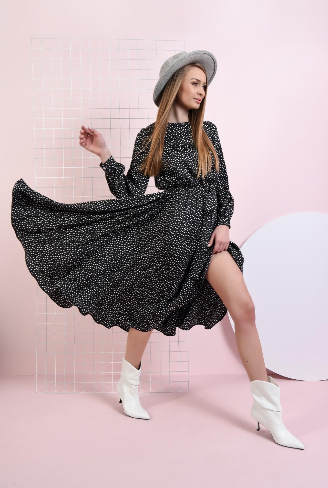 0 - rochie casual, cu imprimeu, cu cordon