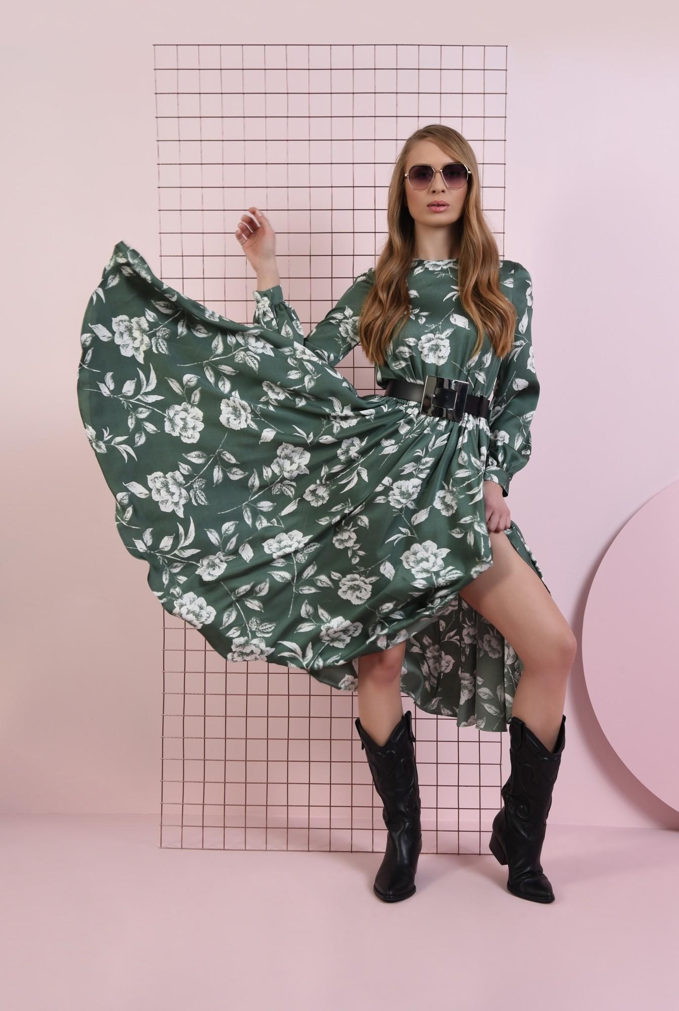 0 - rochie cu imprimeu, cu cordon, Poema