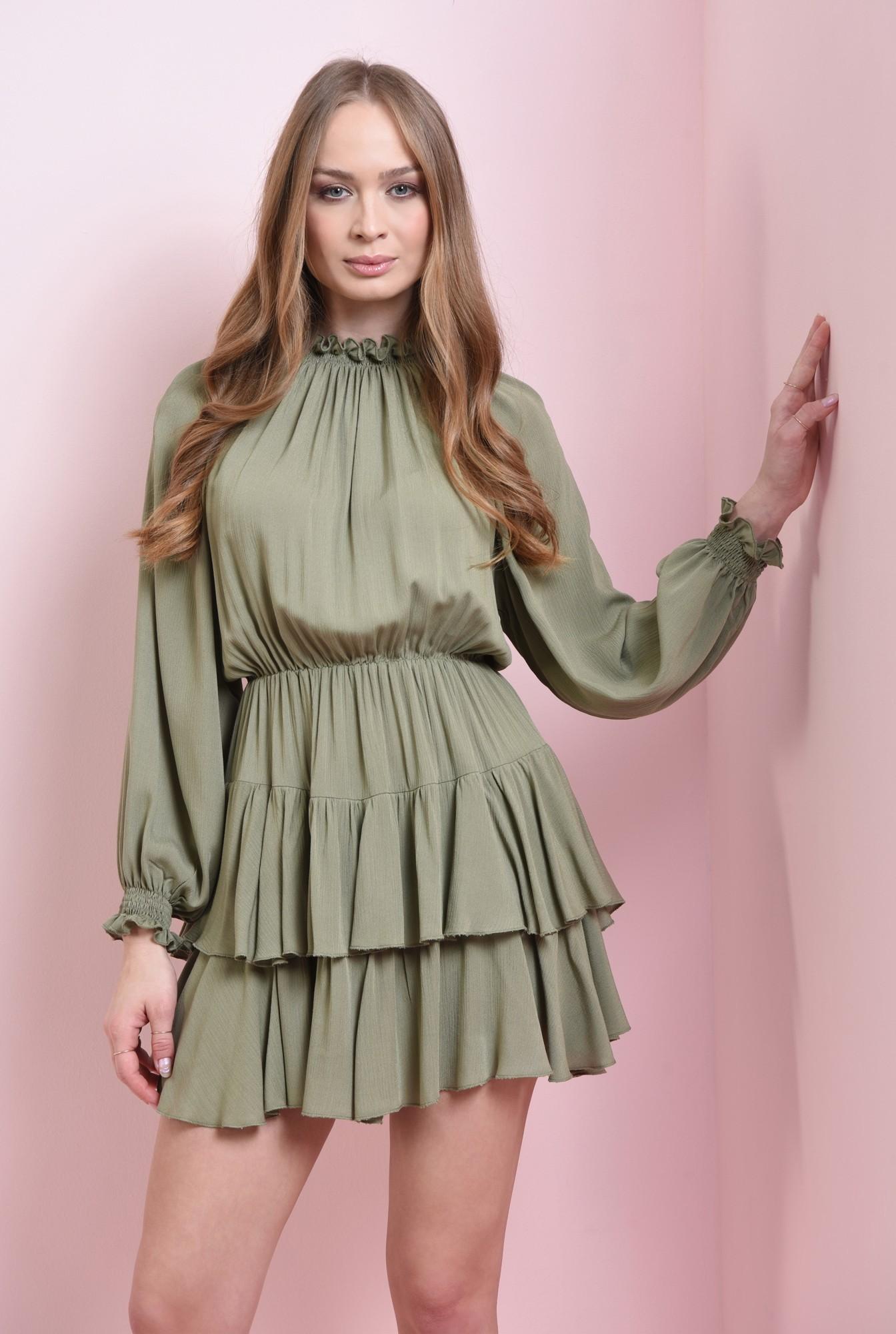 0 - rochie mini, din paza topita