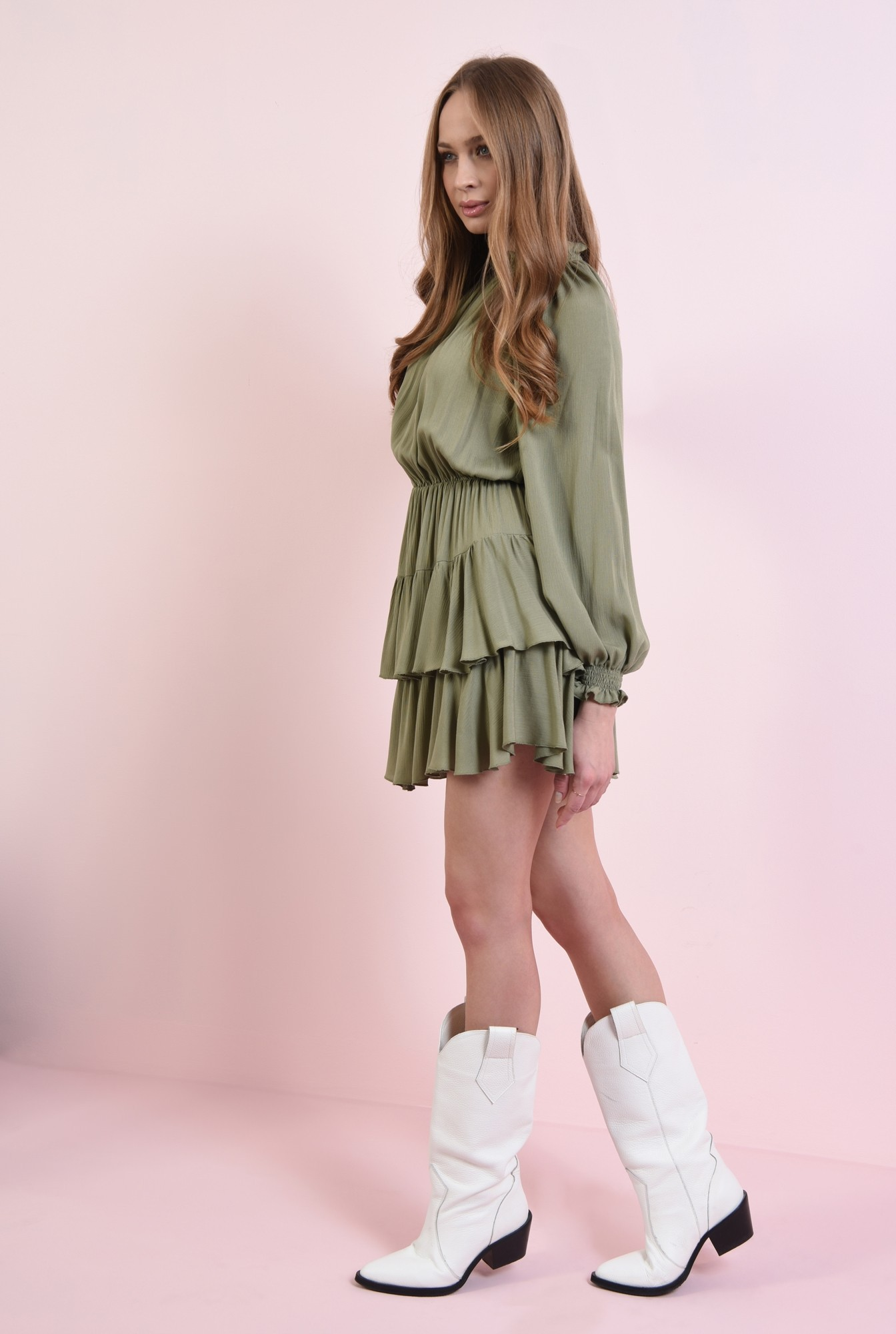 1 - rochie mini, din paza topita