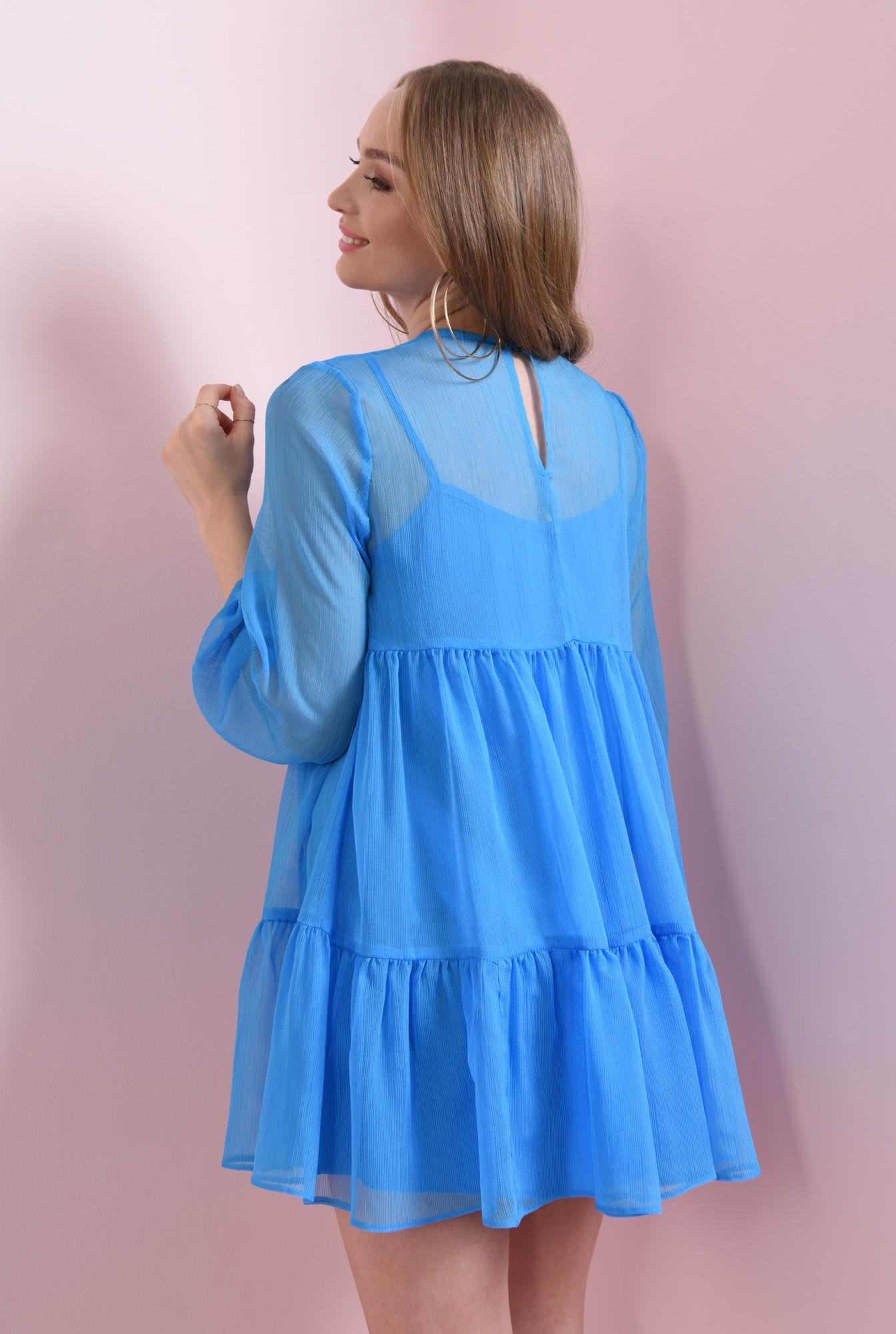 1 - rochie scurta, albastra, babydoll