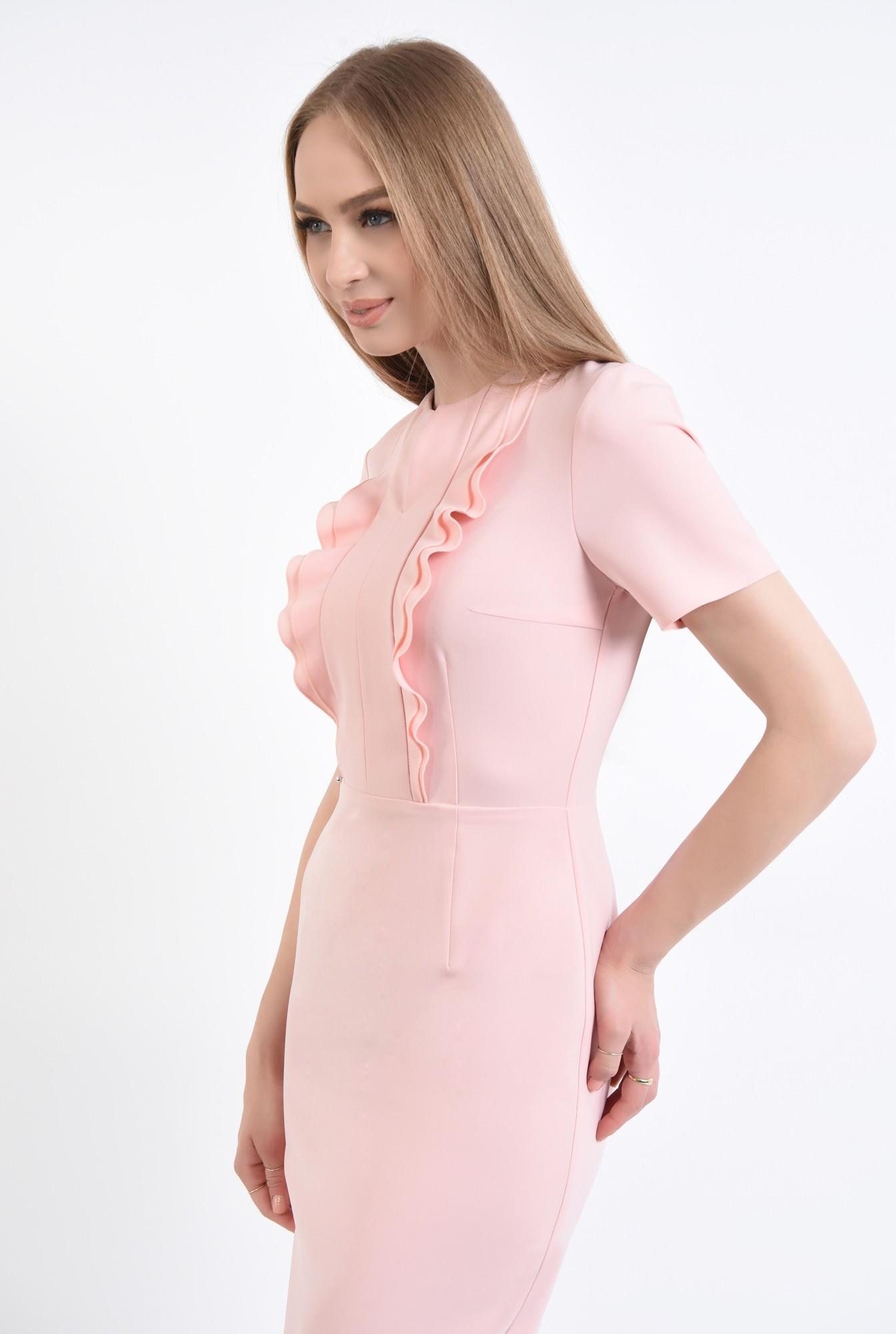 2 - Rochie conica, roz