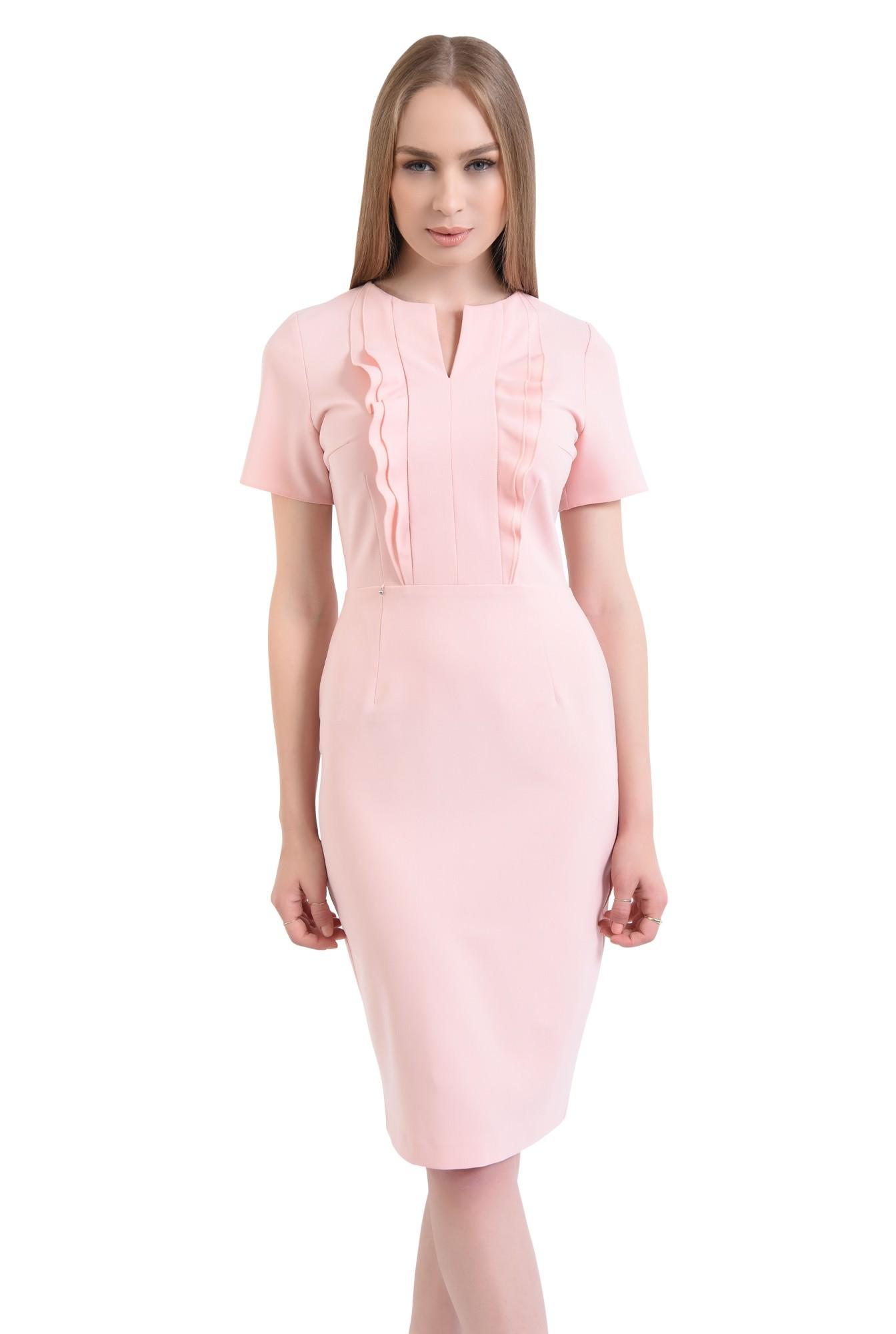 0 - Rochie conica, roz