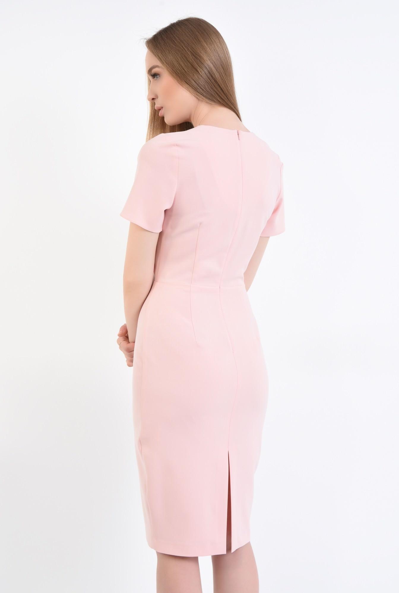 1 - Rochie conica, roz