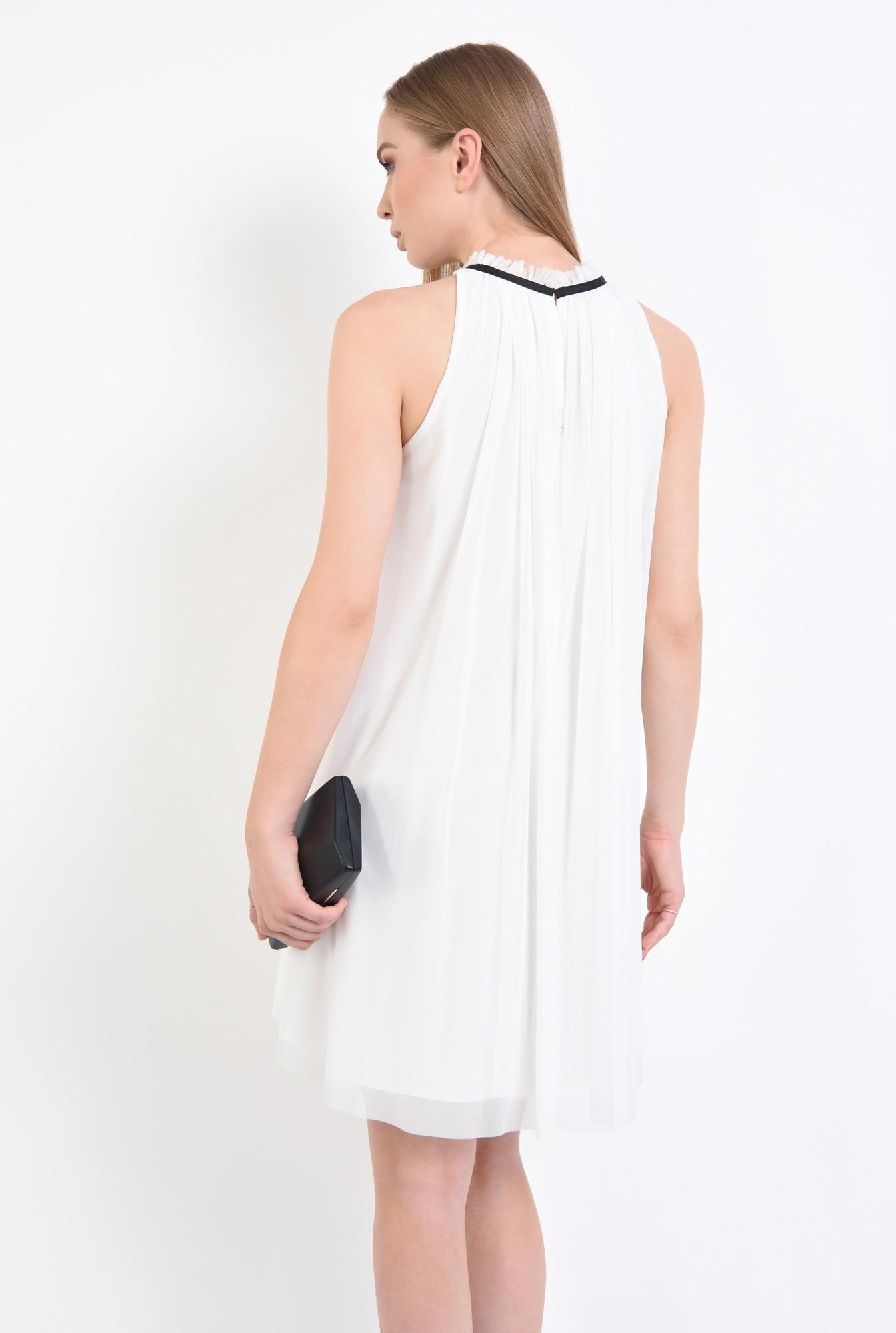 1 - rochii online, croi lejer, floare textila, contrast, tulle