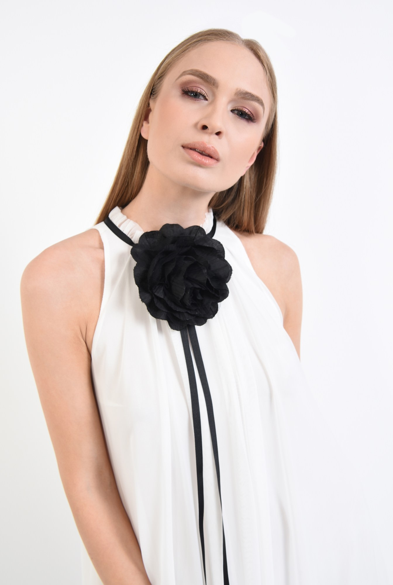 2 - rochii online, croi lejer, floare textila, contrast, tulle