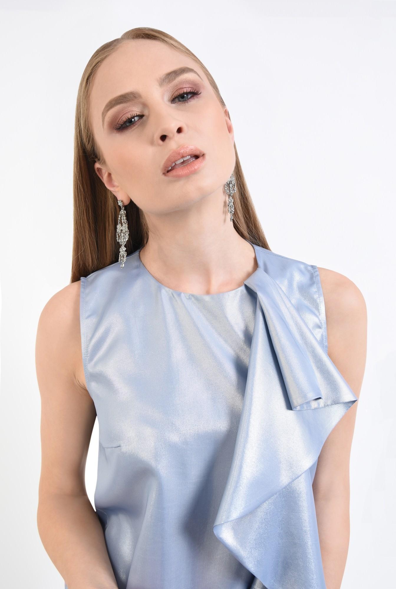 2 - rochie de ocazie, bleu, argintiu, scurta