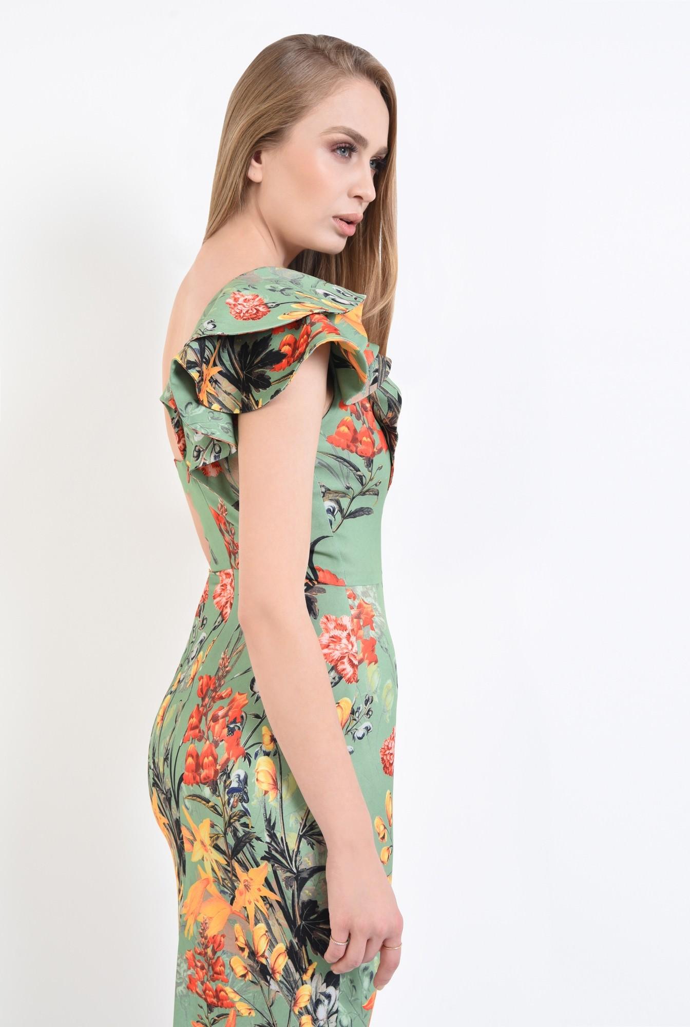 1 - rochie de ocazie, imprimeu floral, midi