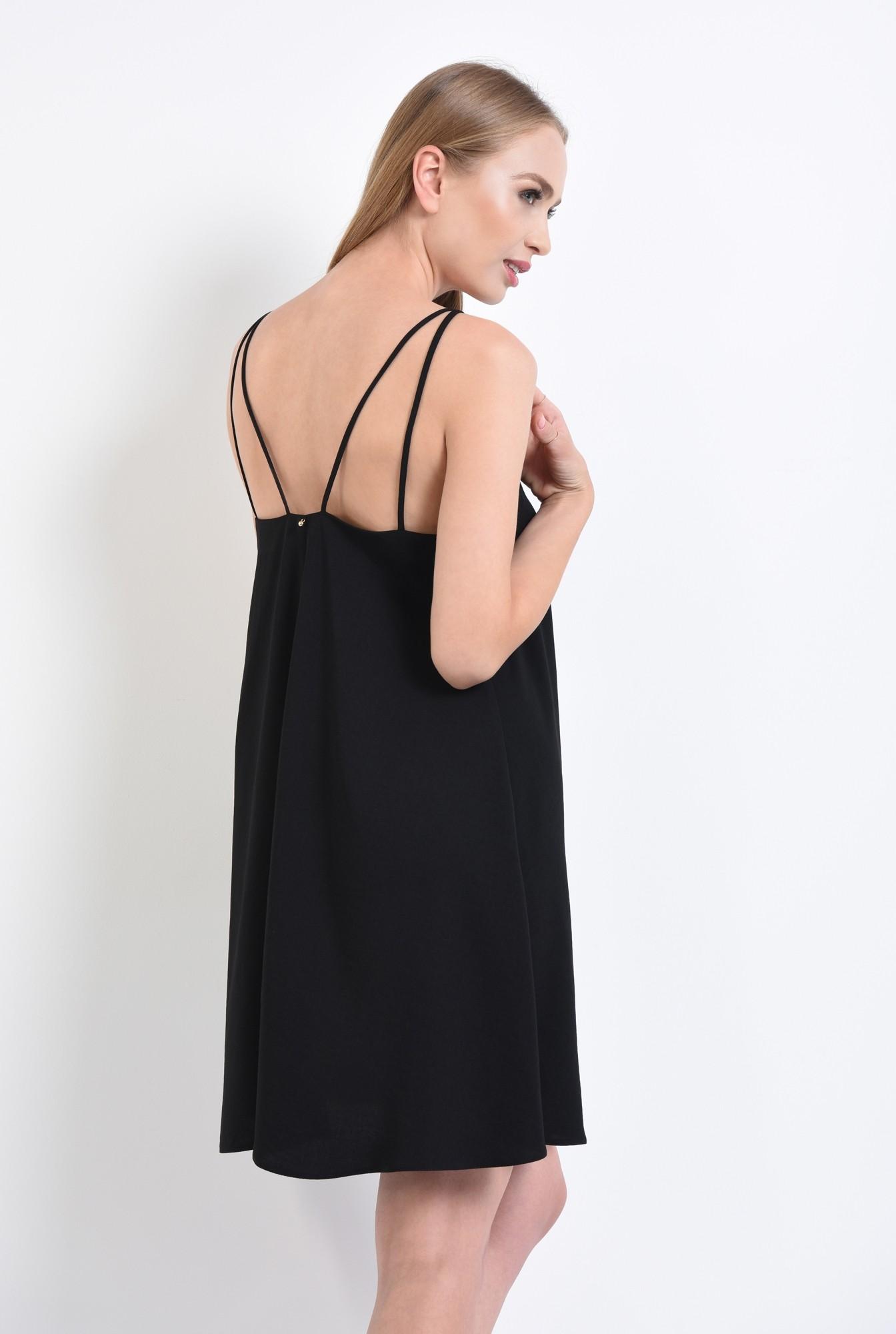 1 - rochie eleganta, scurta, evazata, neagra