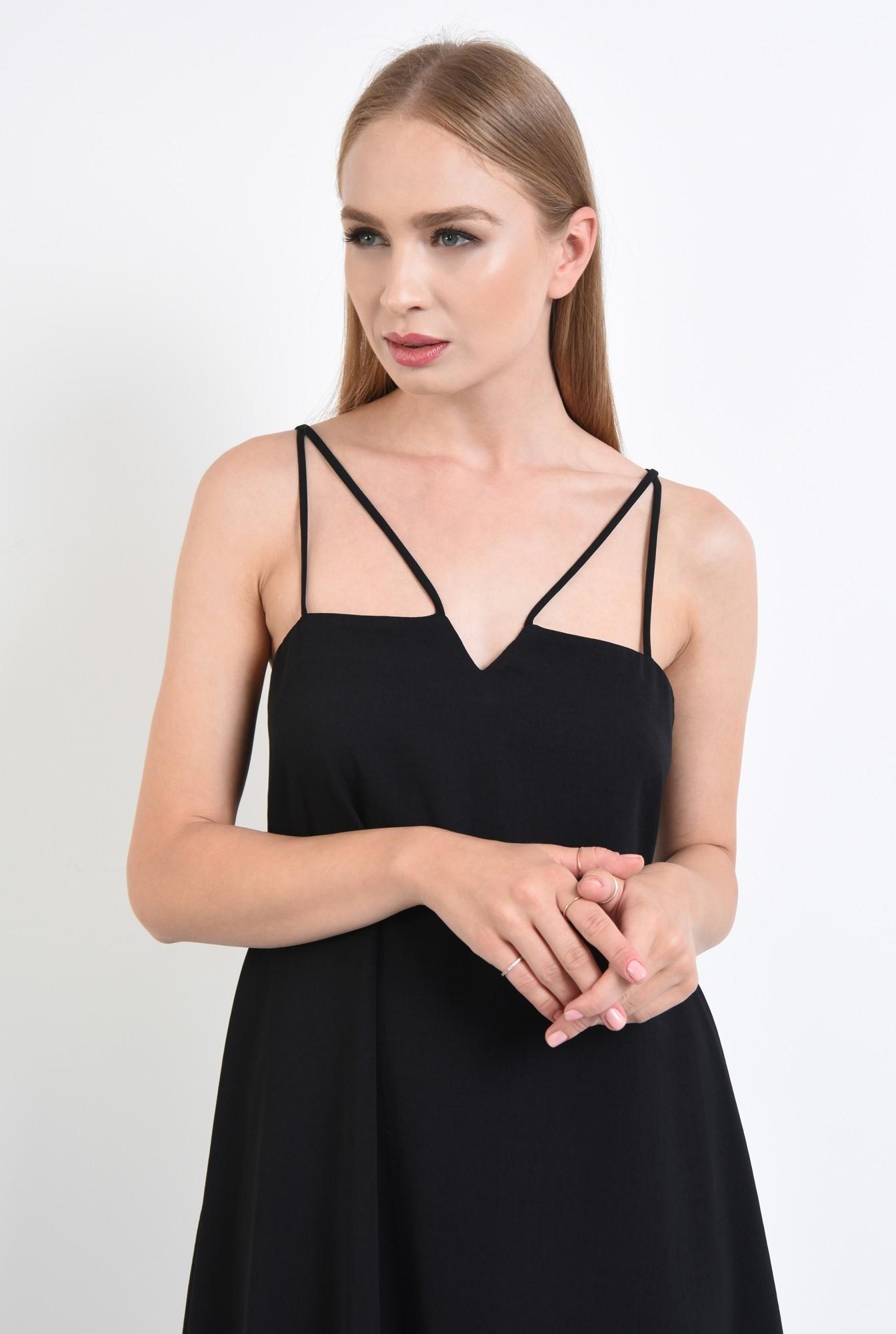 2 - rochie eleganta, scurta, evazata, neagra
