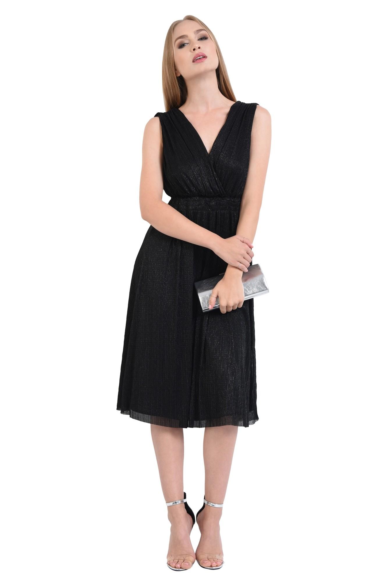 0 - rochie de seara, lurex, negru, spate gol, snur, cu funda