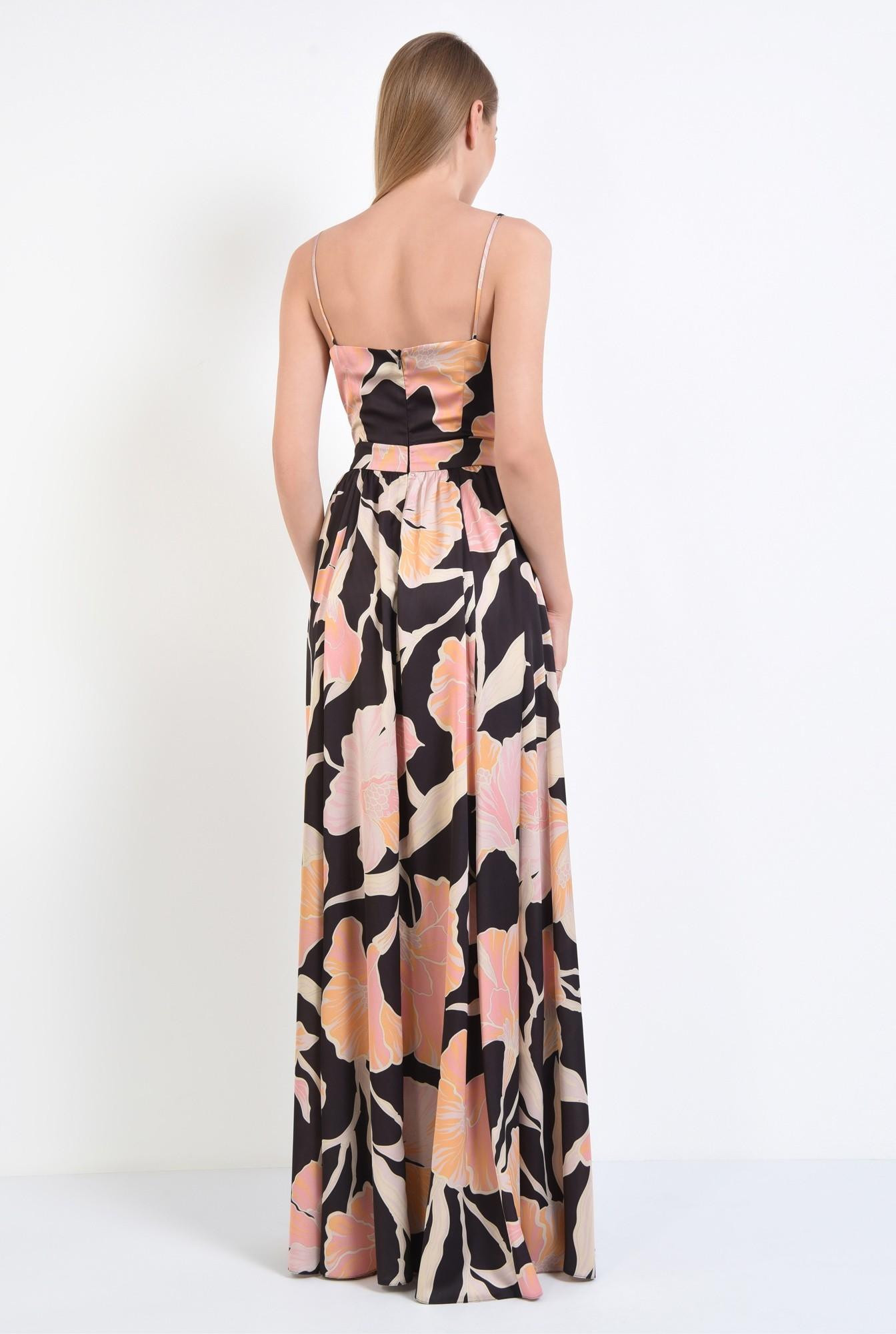 1 - rochie de ocazie, maxi, croi clos, imprimeu floral
