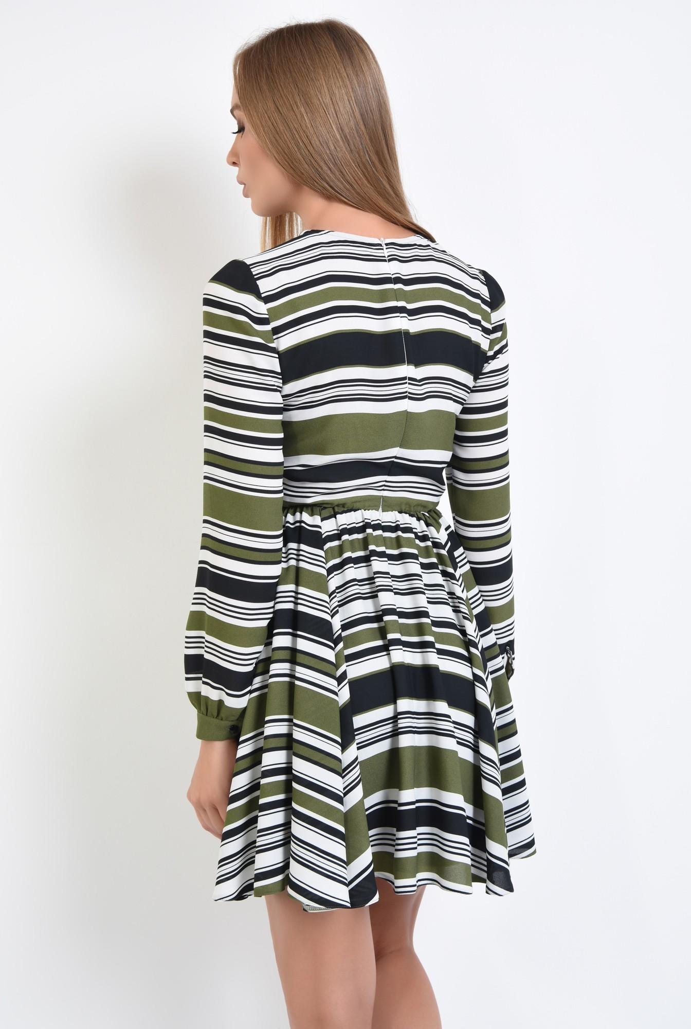 1 - rochie casual, talie pe elastic, decolteu rotund la baza gatului, rochii online