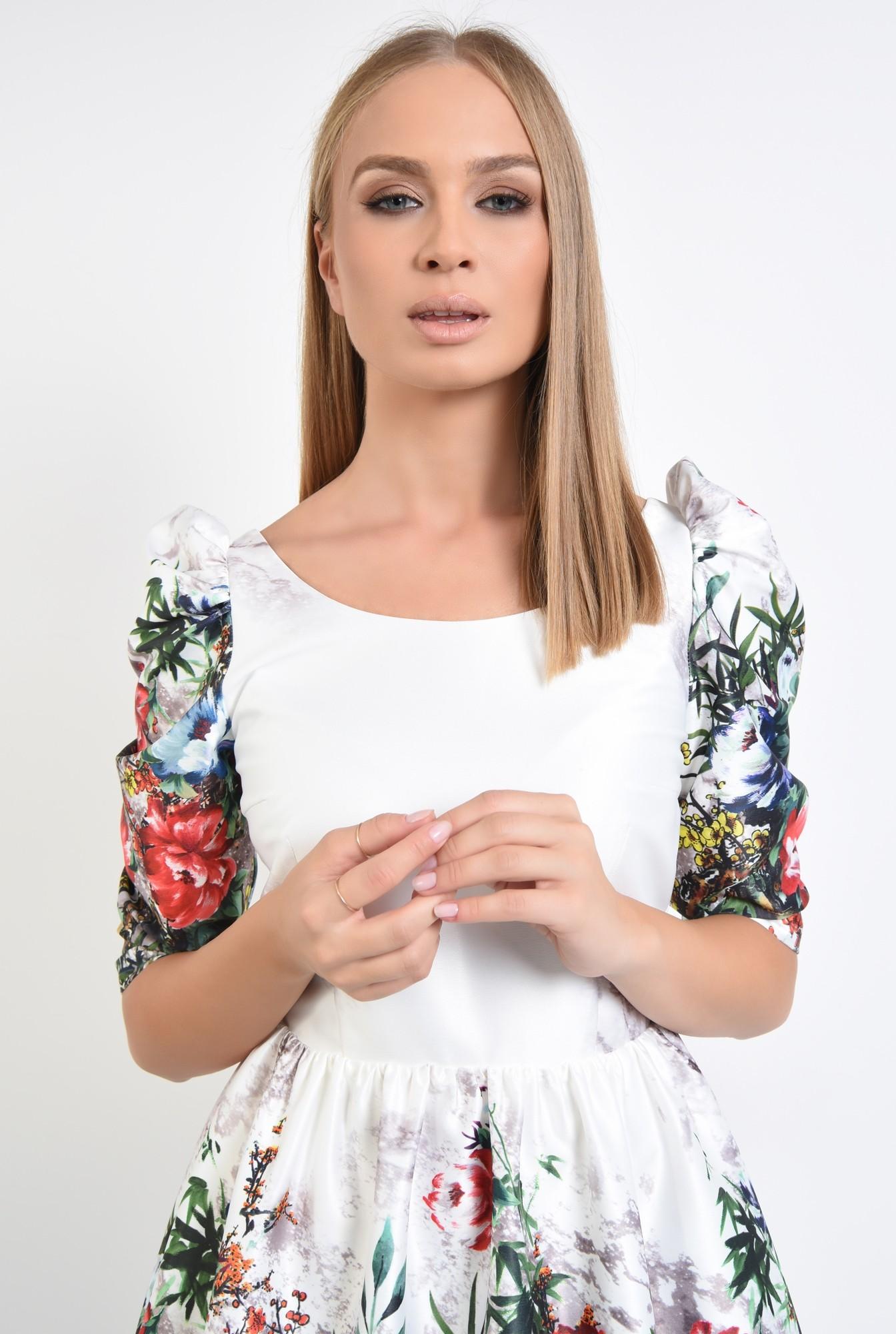 2 - rochie de ocazie, tafta, imprimata, motive florale
