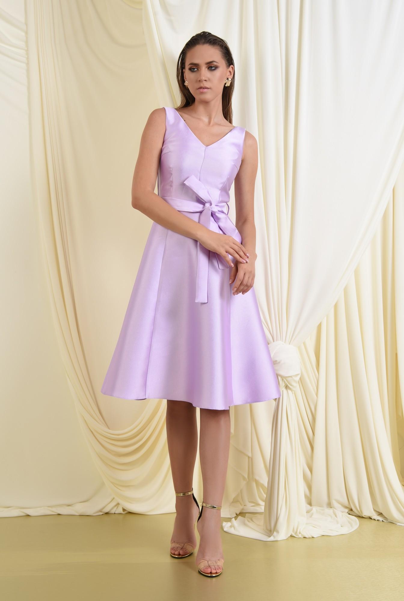 3 - 360 - rochie de ocazie, midi, evazata, din tafta