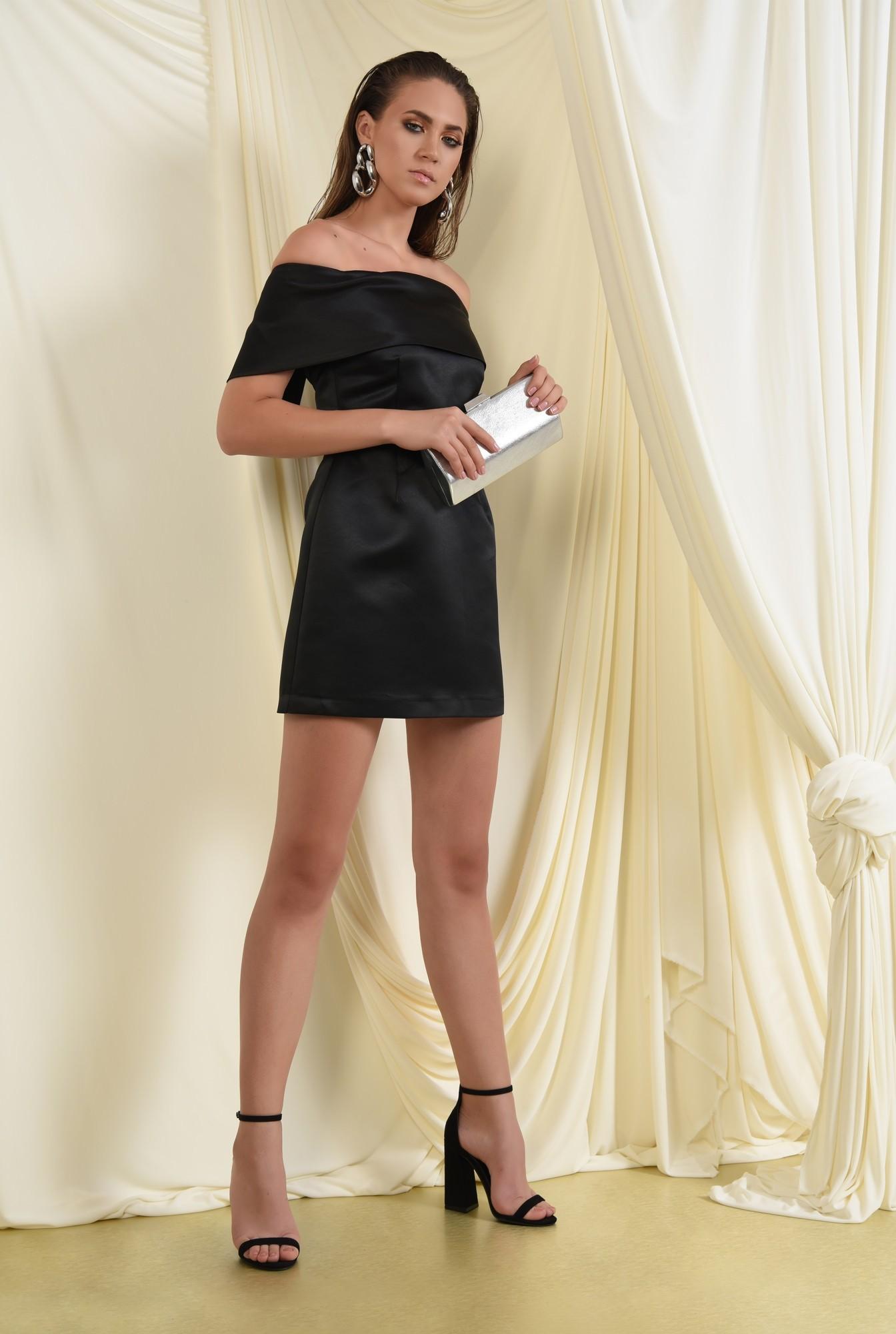 2 - rochie de ocazie, scurta, cambrata, umeri goi, capa