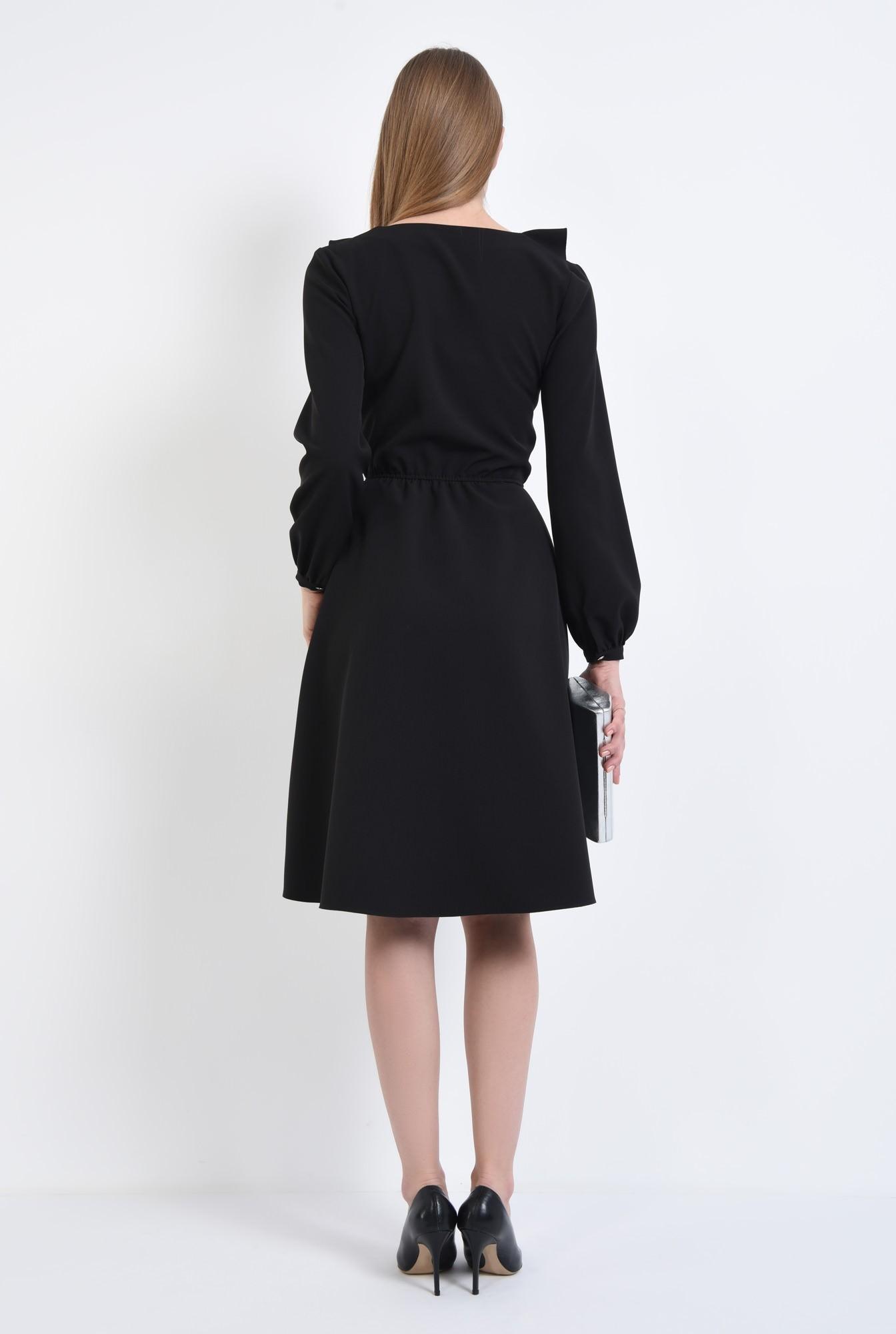 1 - Rochie casual neagra, cloche