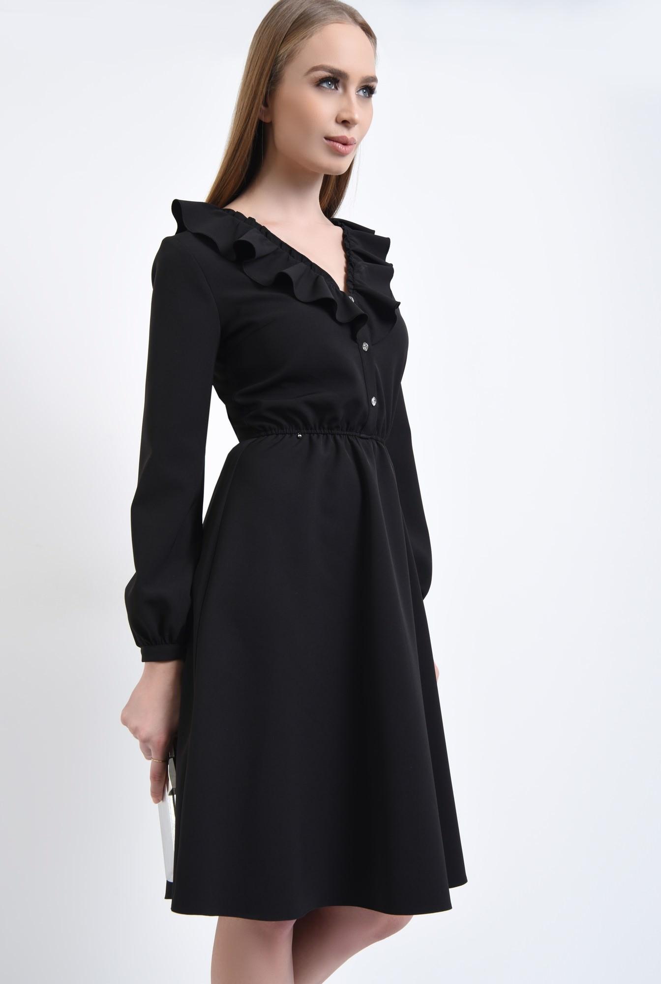 2 - Rochie casual neagra, cloche