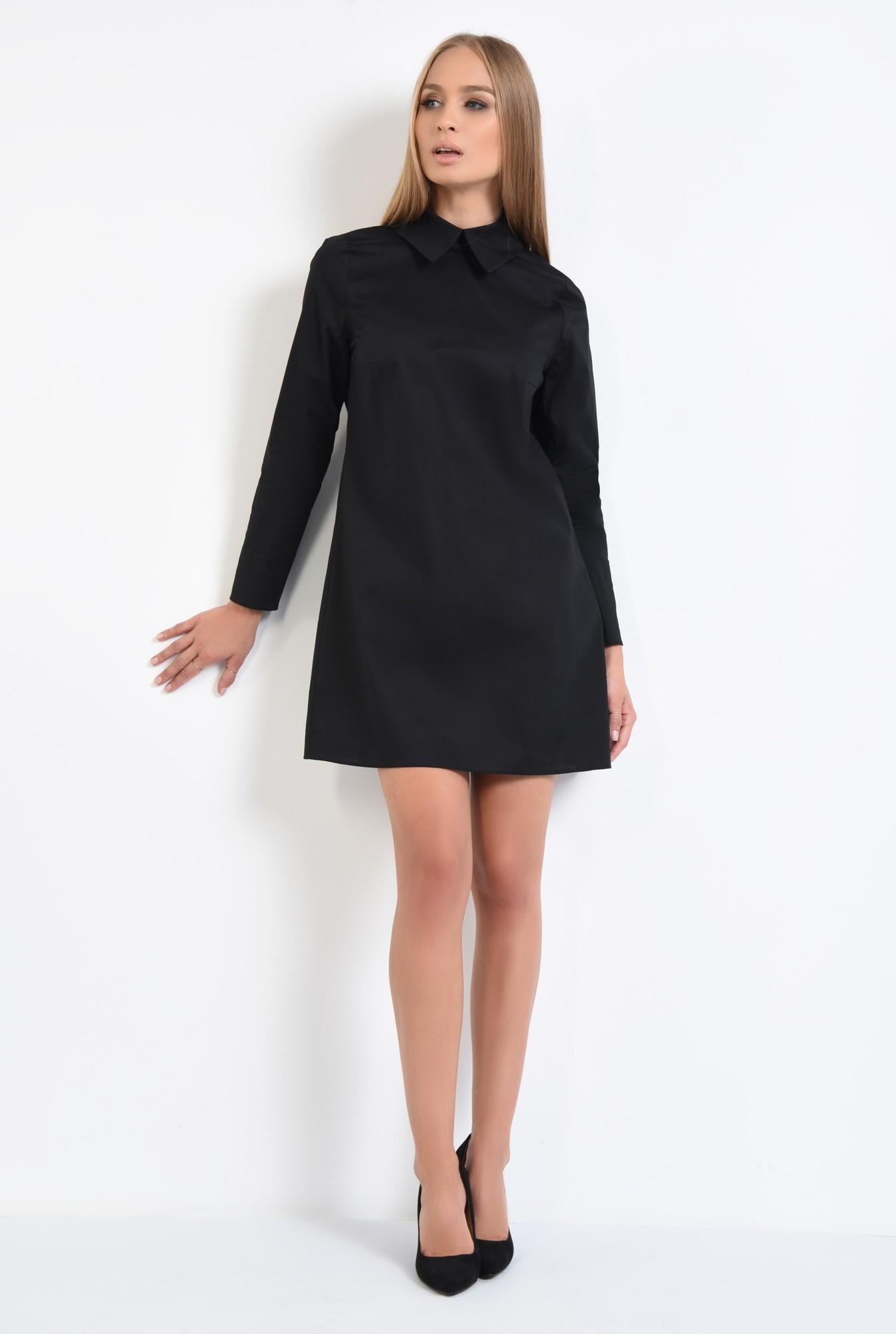 3 - rochie casual, stil camasa, guler ascutit, rochii online