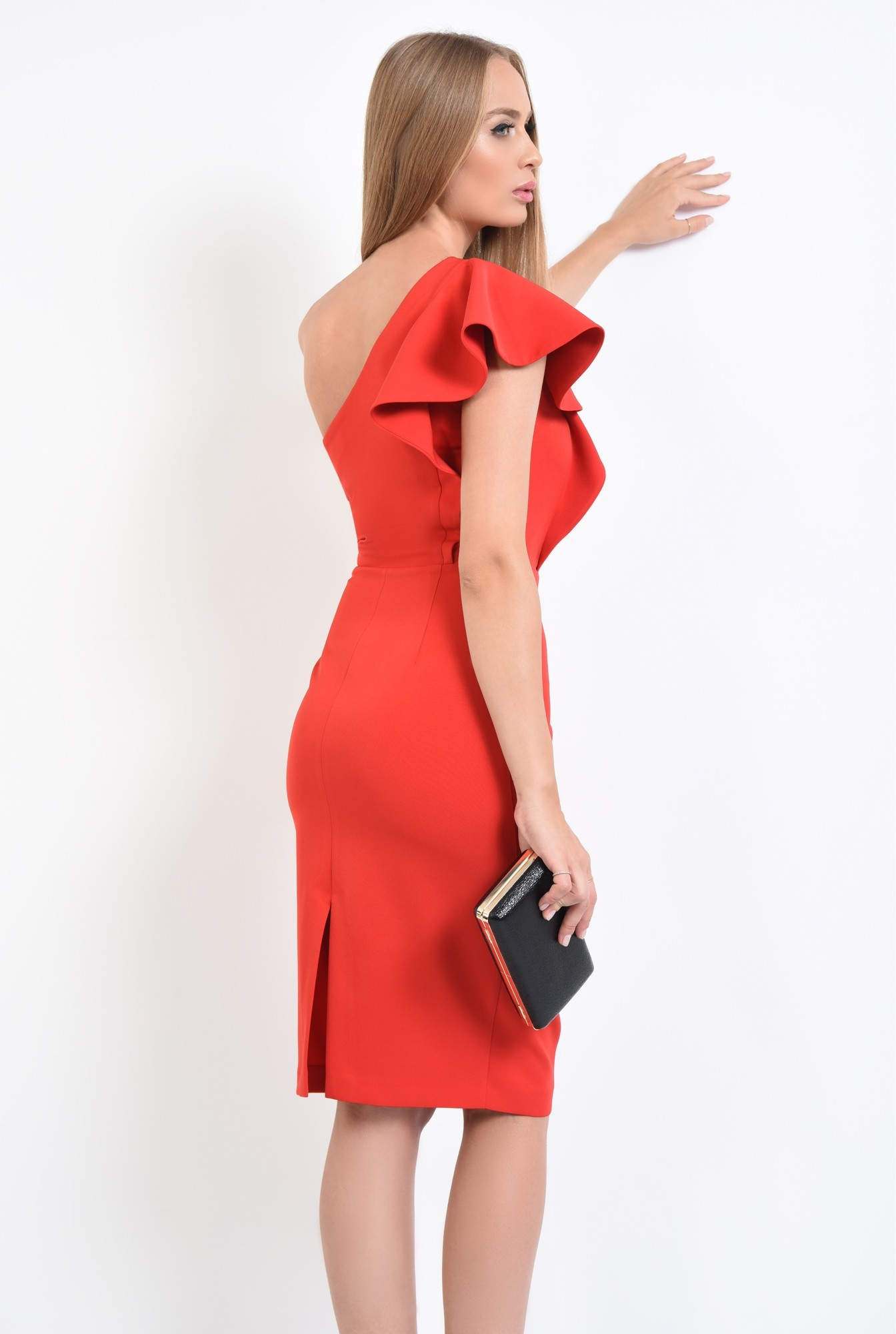 1 - rochie de ocazie, cambrata, slit la spate, rochii online