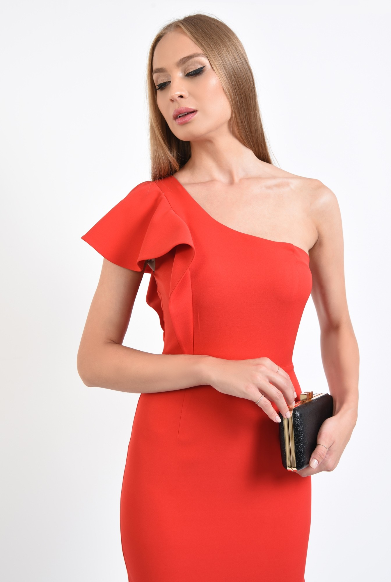 2 - rochie de ocazie, cambrata, slit la spate, rochii online