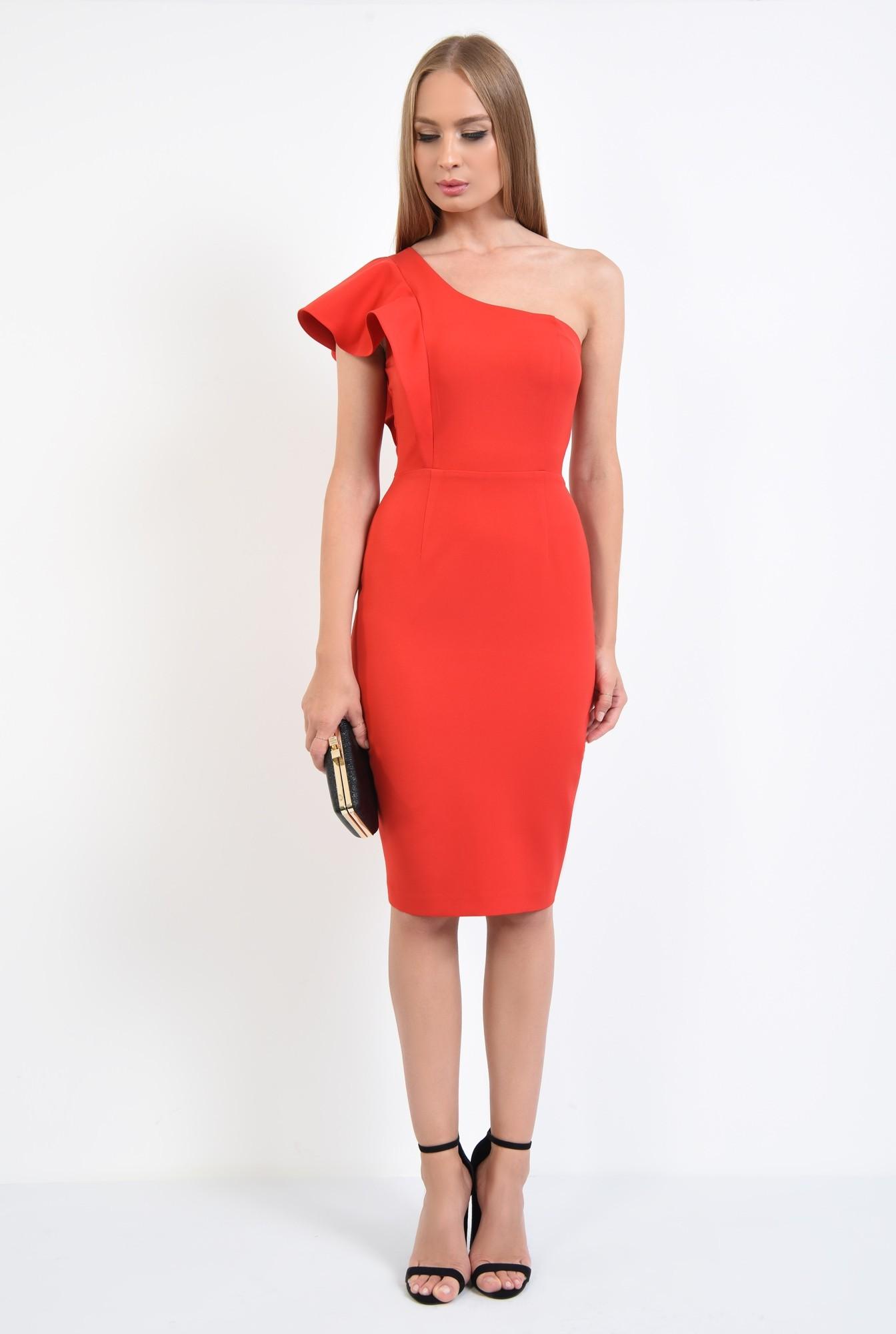 3 - rochie de ocazie, cambrata, slit la spate, rochii online