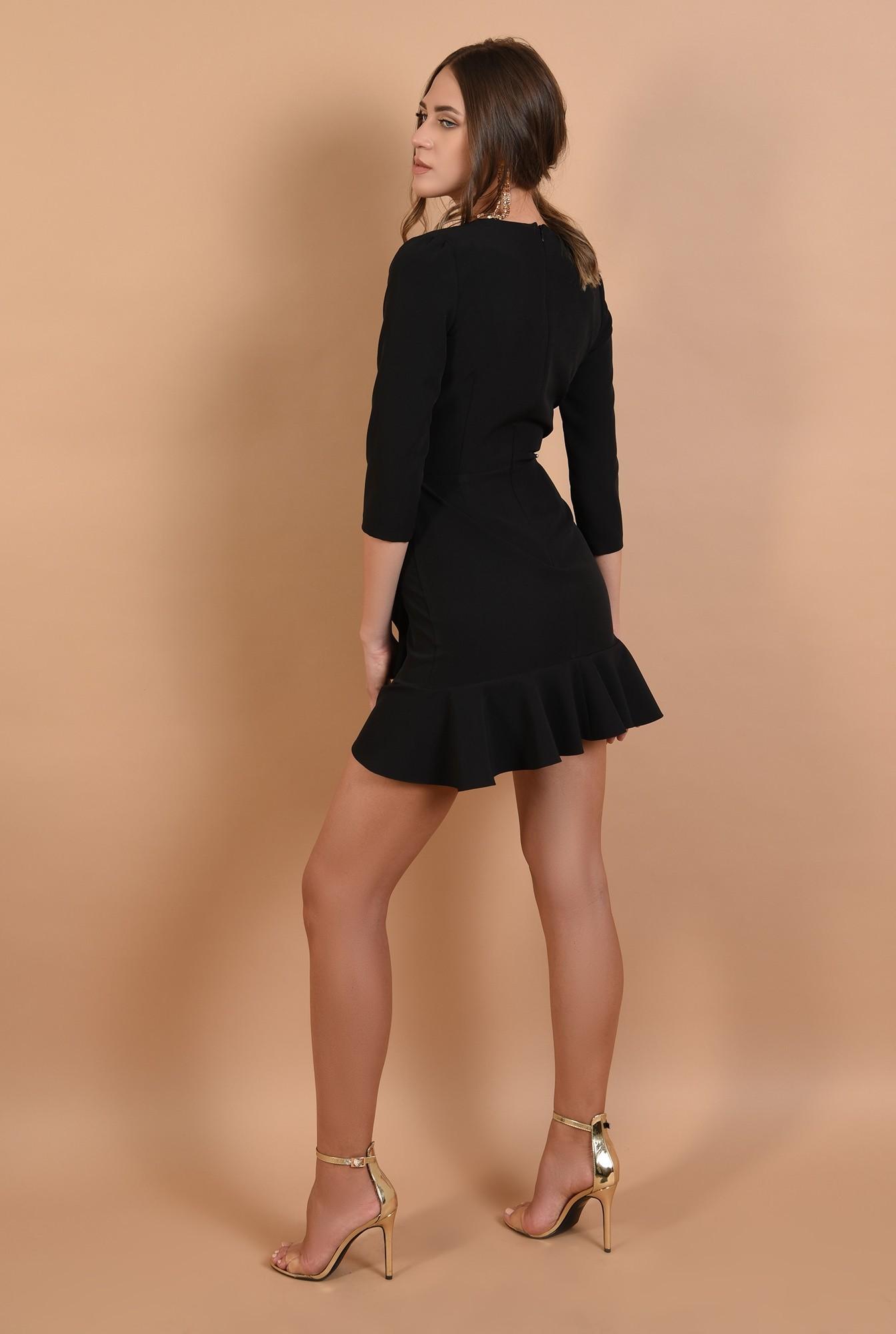 1 - rochie mini, eleganta, petrecuta, cu volane, anchior
