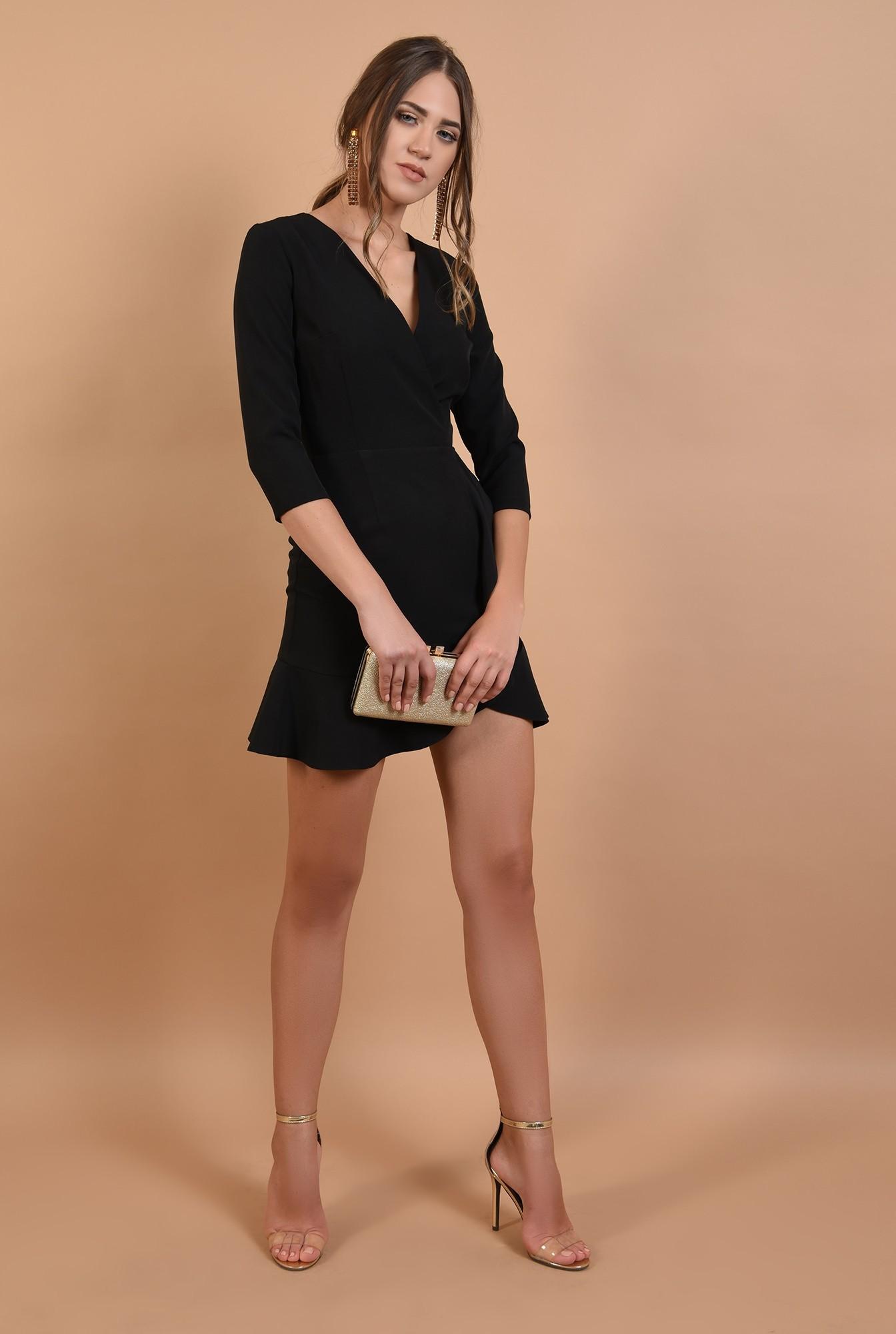 3 - rochie mini, eleganta, petrecuta, cu volane, anchior