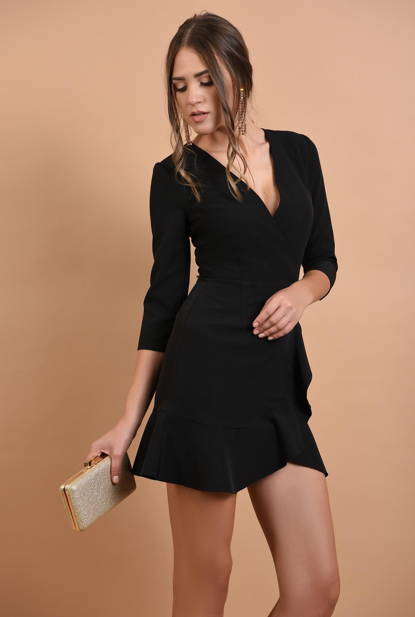 0 - rochie mini, eleganta, petrecuta, cu volane, anchior