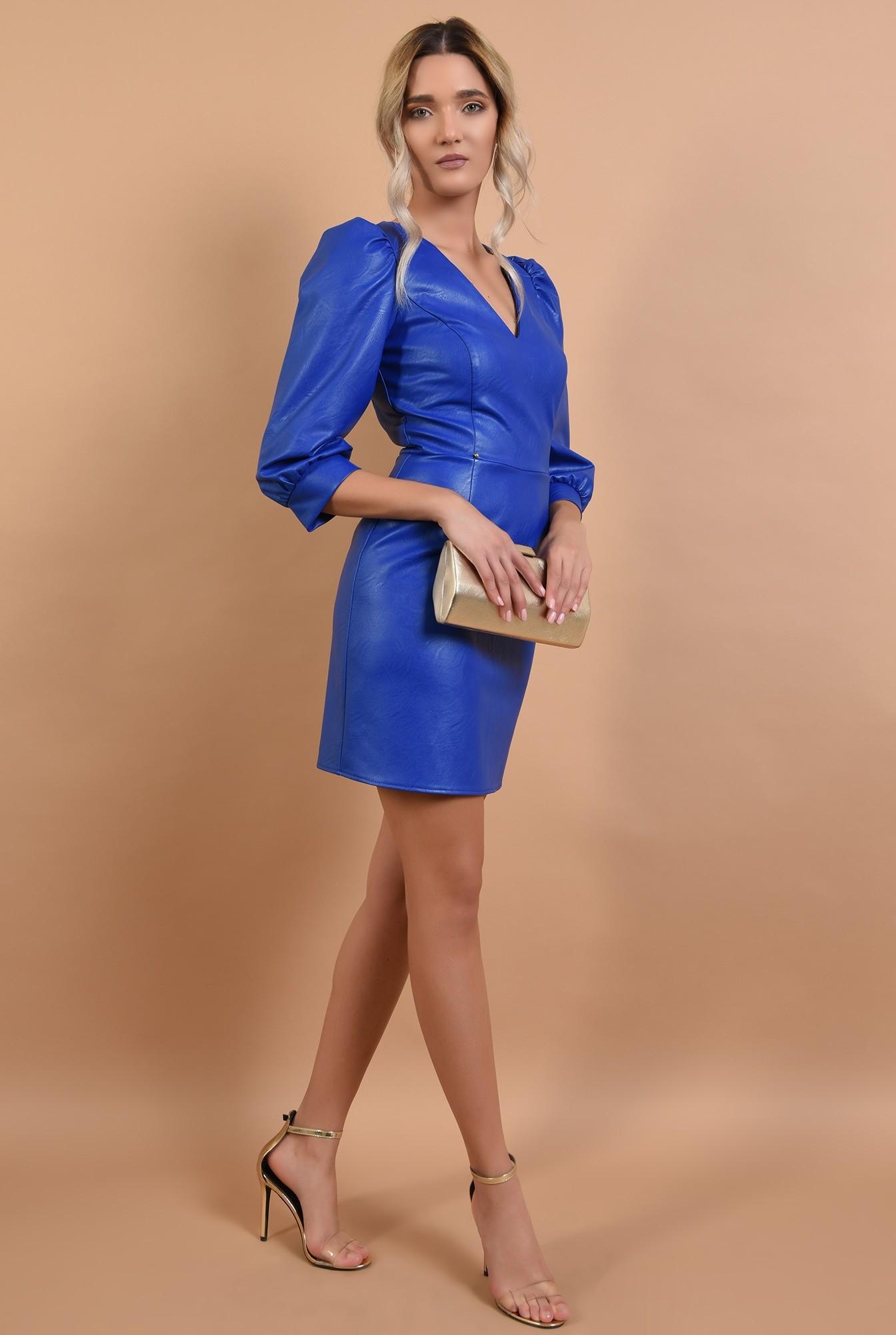 3 - rochie eleganta, scurta, cambrata, piele eco, Poema